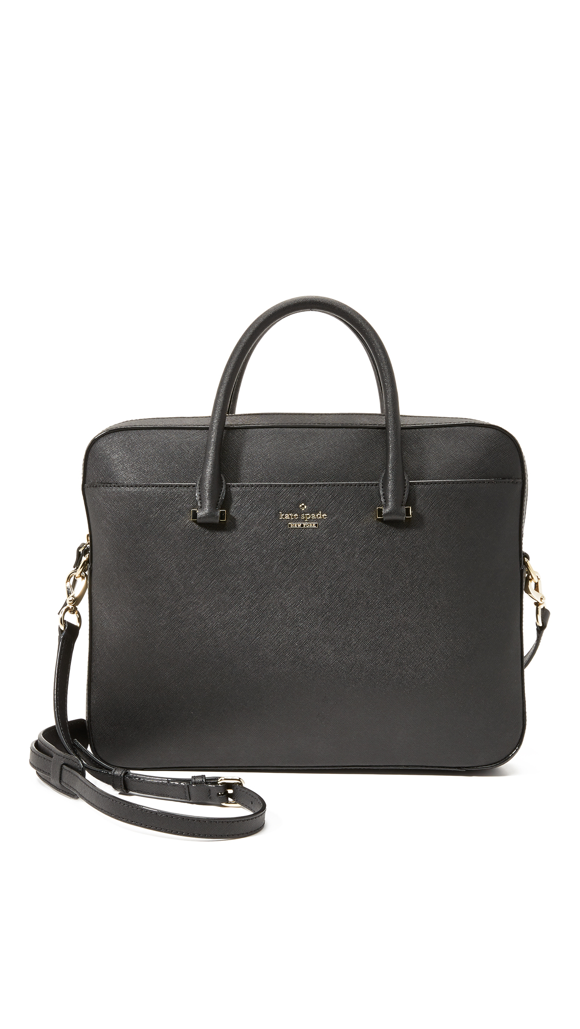 Lyst - Kate Spade 13 Inch Saffiano Laptop Bag in Black eb427d9c0edb7
