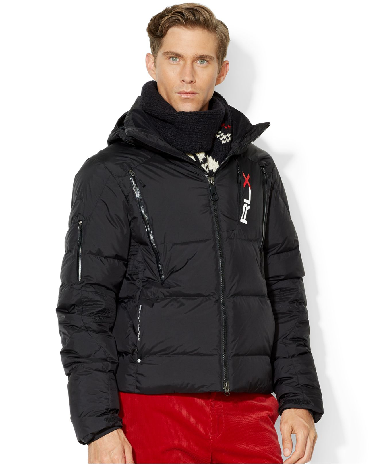 polo ralph lauren rlx quilted down jacket in black for men. Black Bedroom Furniture Sets. Home Design Ideas