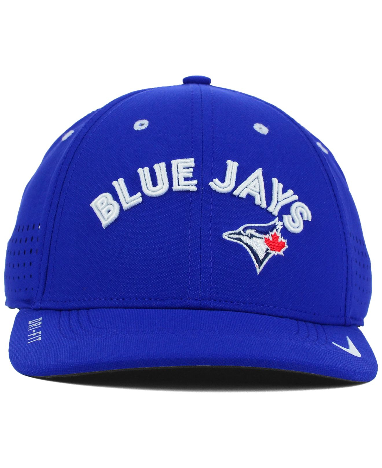 84fdcb80a19 ... order lyst nike toronto blue jays vapor swoosh flex cap in blue for men  72166 1ed21