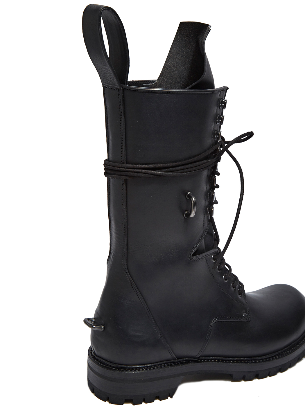 Rick Owens Men S Elastic Long Chunky Lace Up Boots In
