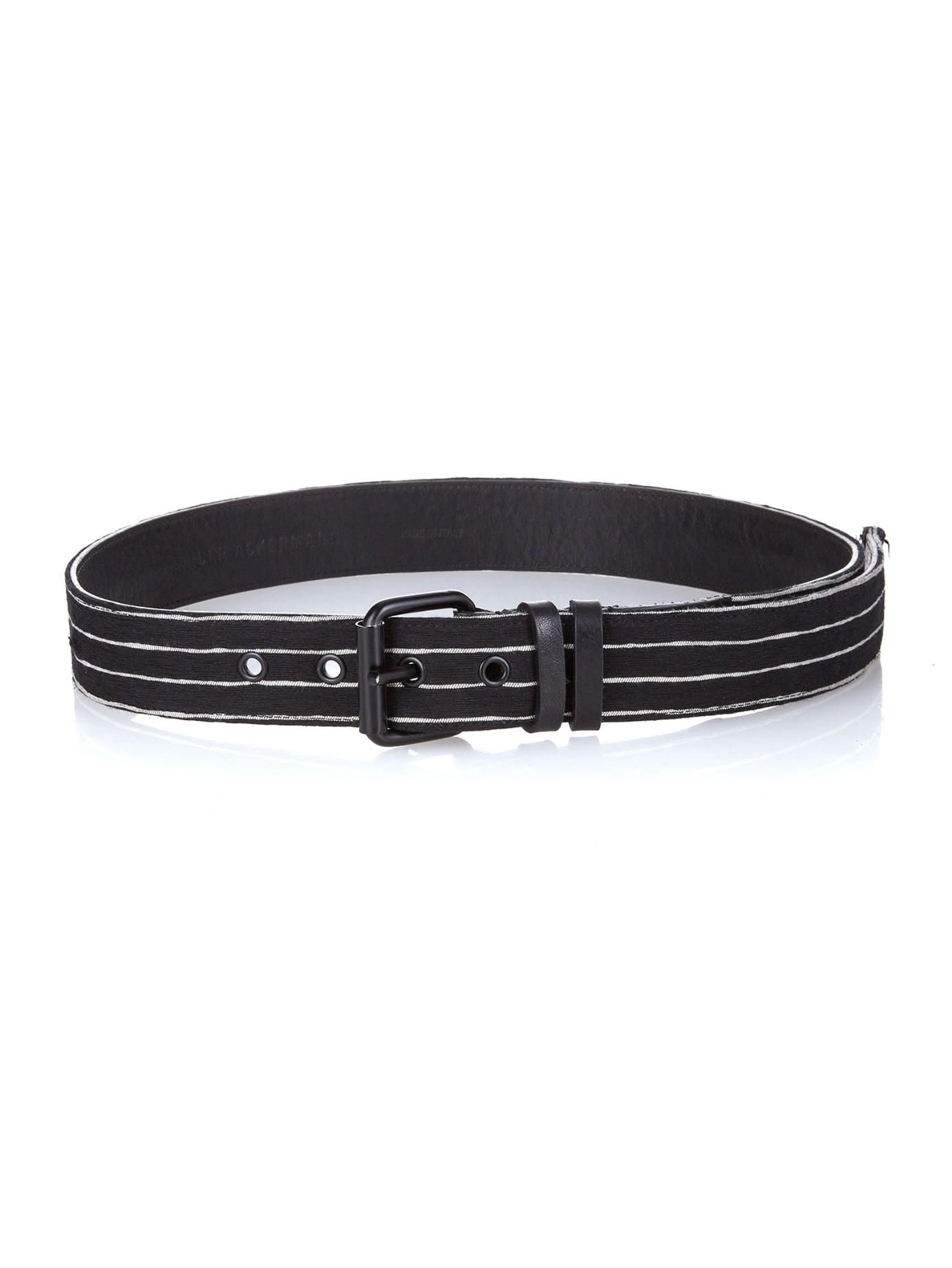 striped medium buckle belt - Black Haider Ackermann Rn8HU