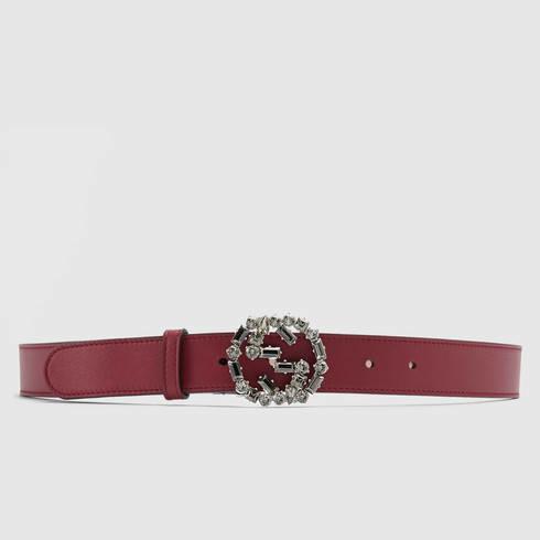 Ivory Crystal GG Elastic Belt Gucci 2OiYeq