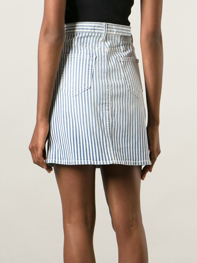 Koral Striped Denim Skirt in Blue | Lyst