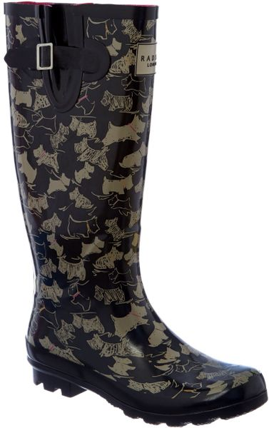 Radley Doodle Dog Tall Wellington Boots In Black Lyst