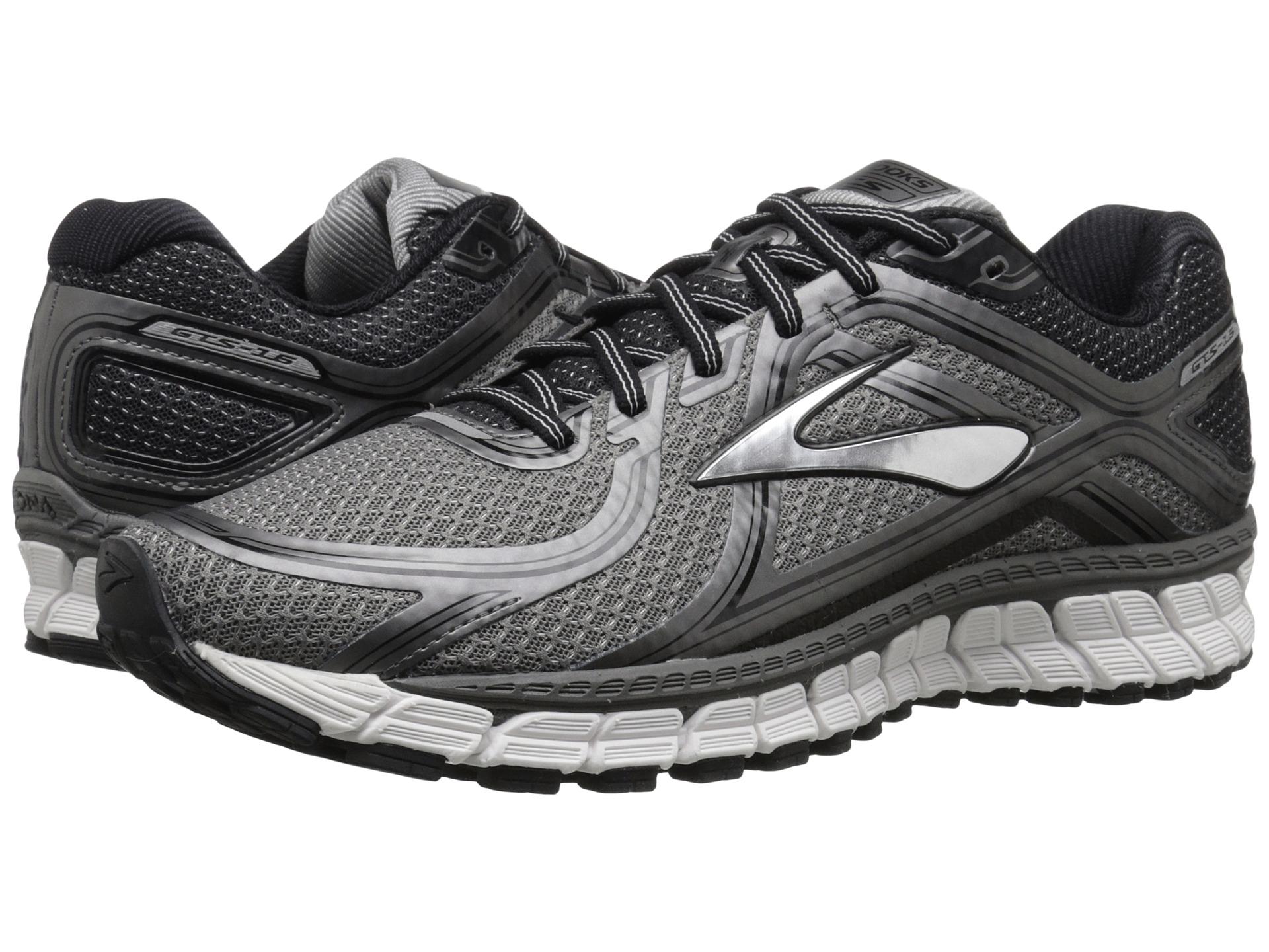 Provide Mens Running Shoes - Brooks Adrenaline Gts 16 Metallic Grey/Black/Silver