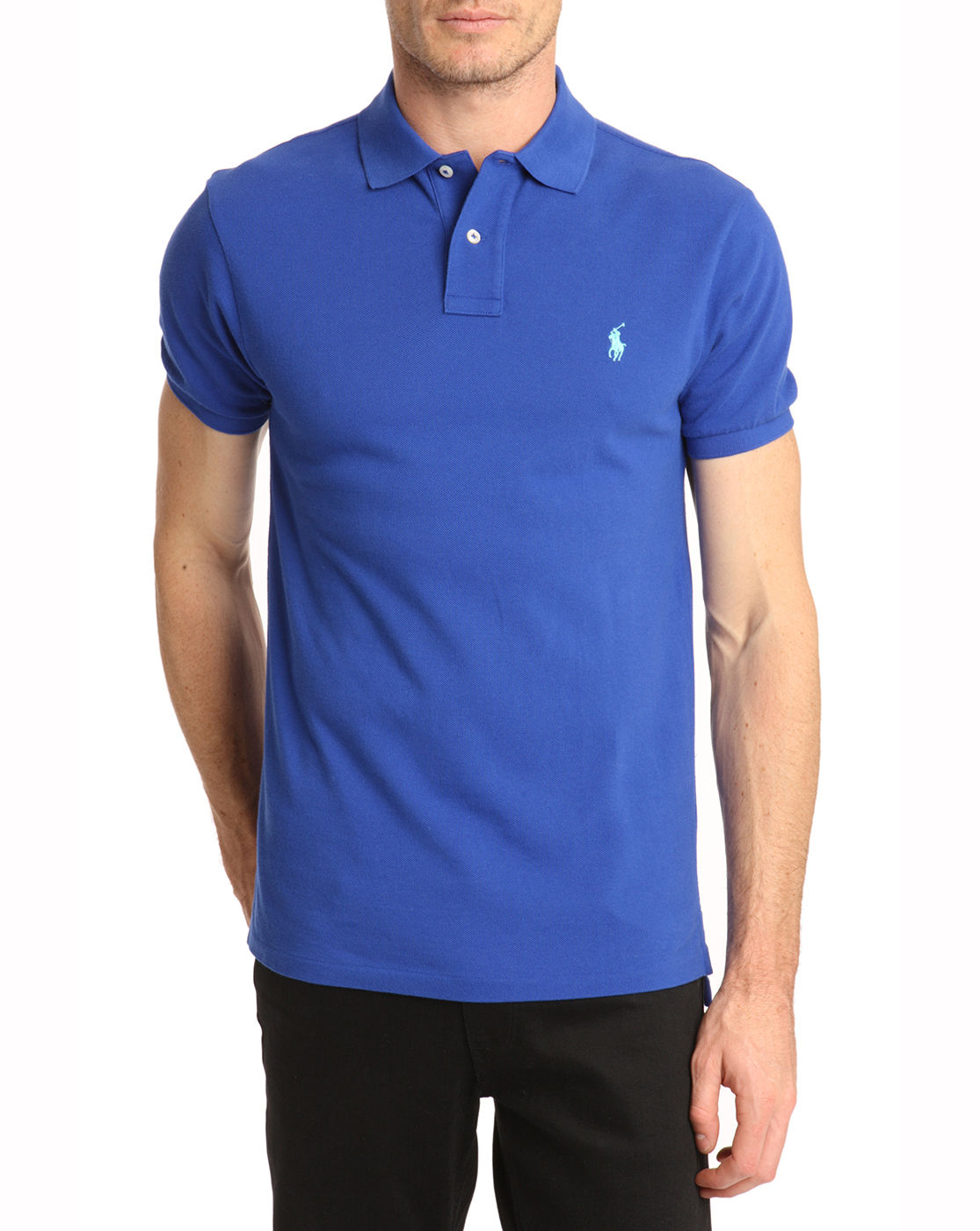 Polo Ralph Lauren Slim Fit Royal Blue Polo Shirt In Blue