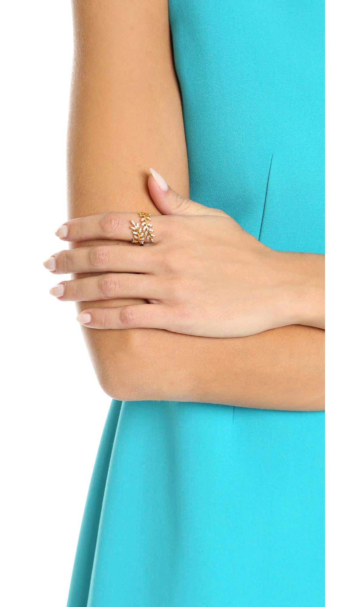 Gorjana Olympia Shimmer Wrap Ring in Metallic Gold mHd5PLC