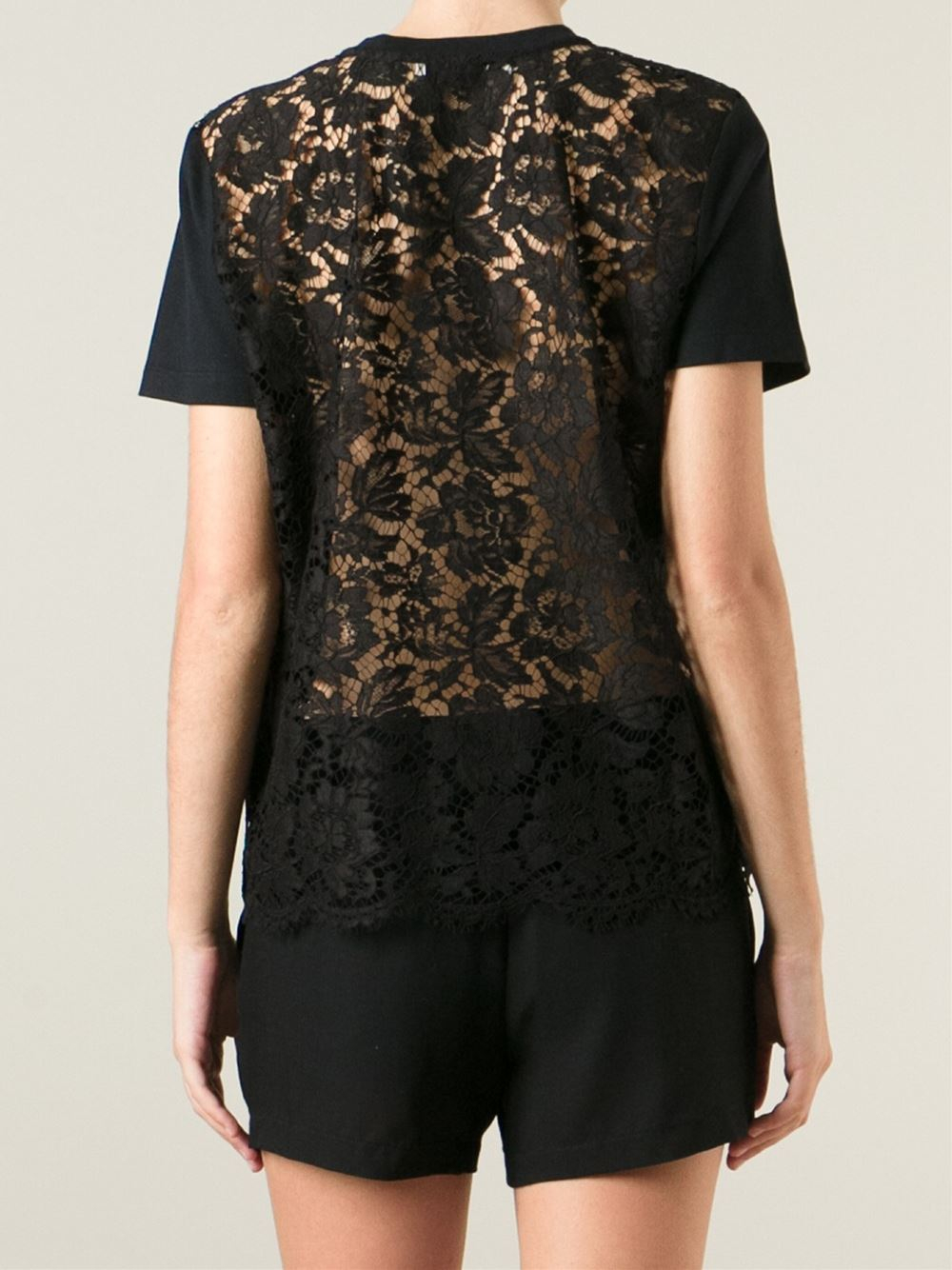 Black t shirt with lace - Gallery