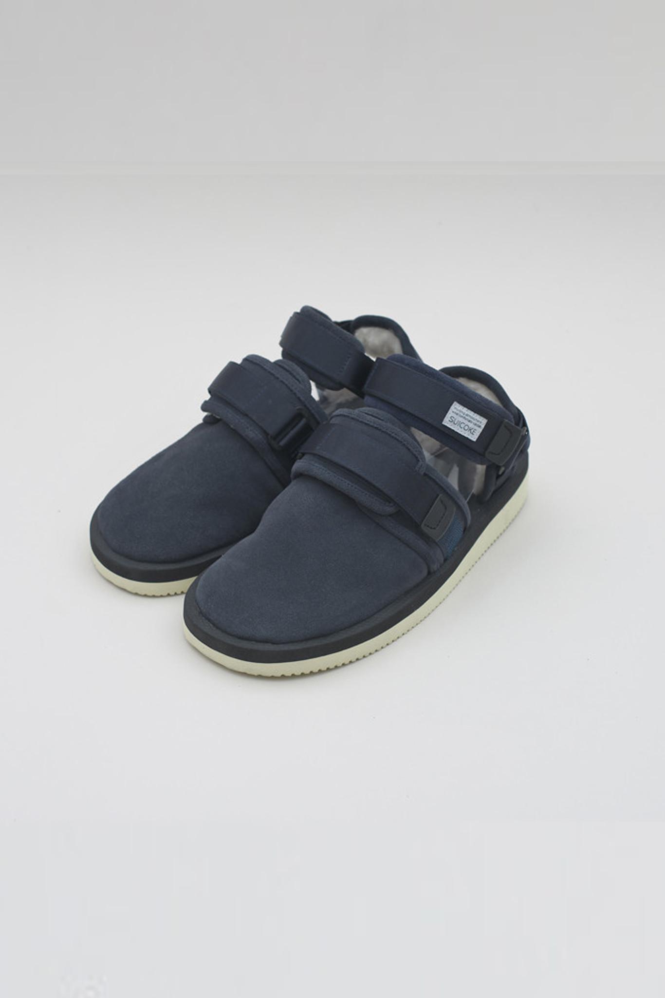 Lyst Suicoke Navy Shearling Sandal In Blue