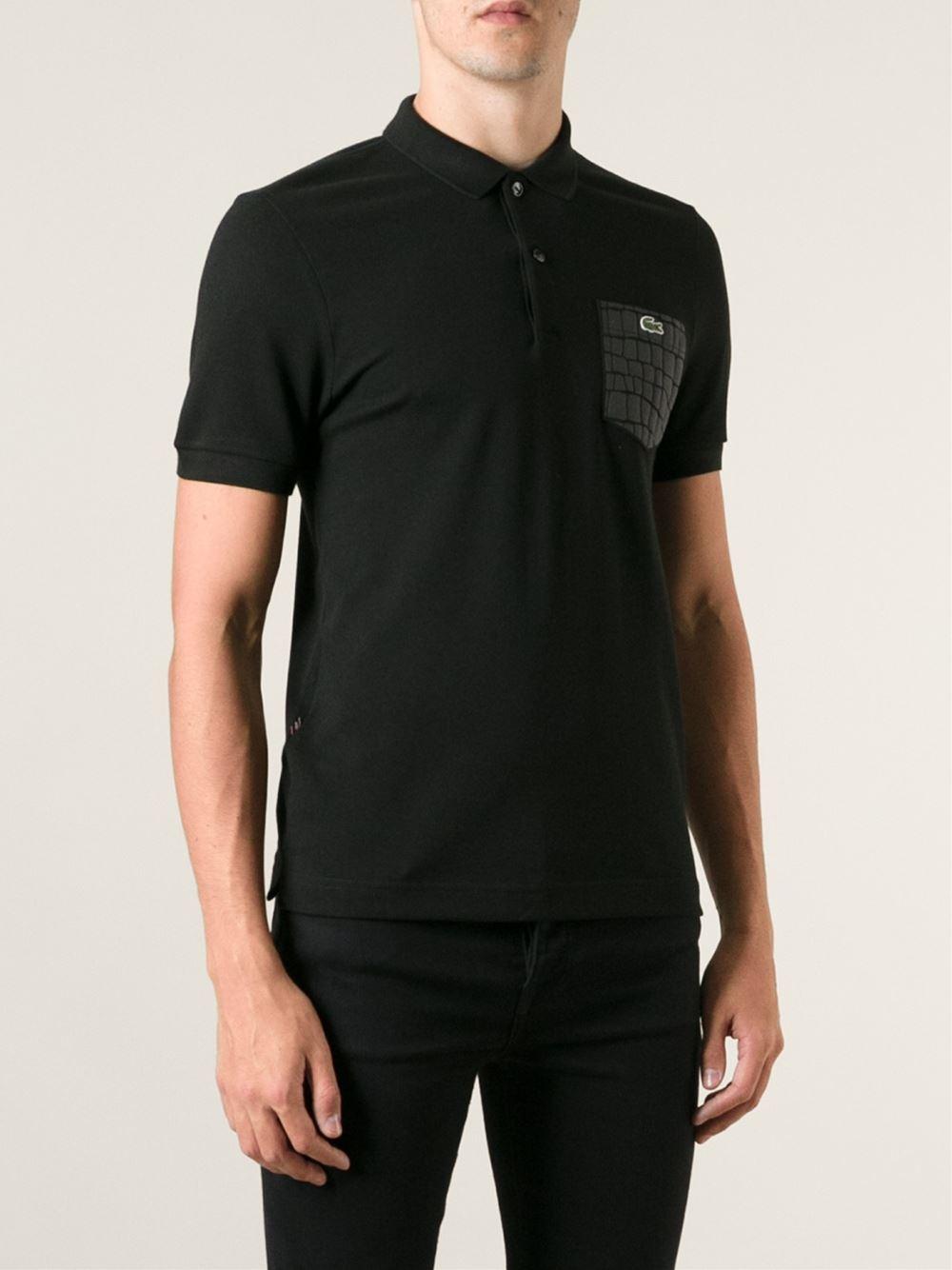 953d3f5d6d31a Black Polo Shirt Lacoste - BCD Tofu House