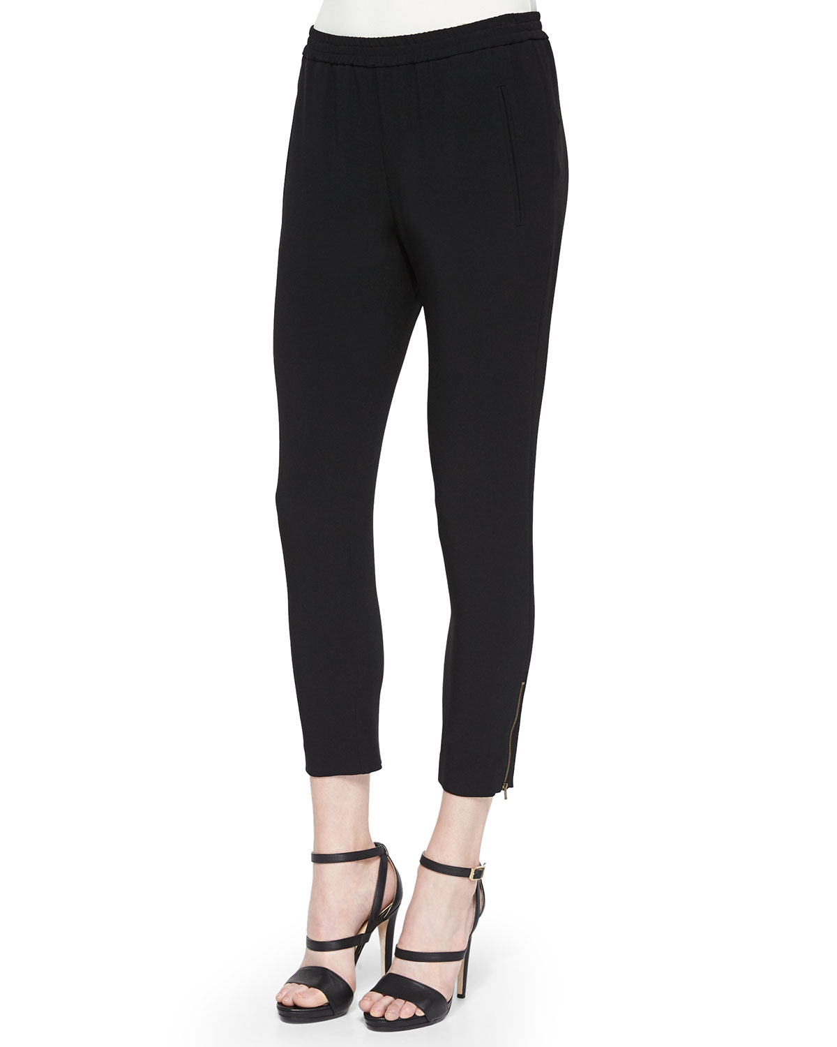 Shop womens elastic waist pants at Neiman Marcus, where you will find free shipping on the latest in fashion from top designers. Skip To Main Content. Etro Largo Wool High-Waist Wide-Leg Pants, Black Details Etro