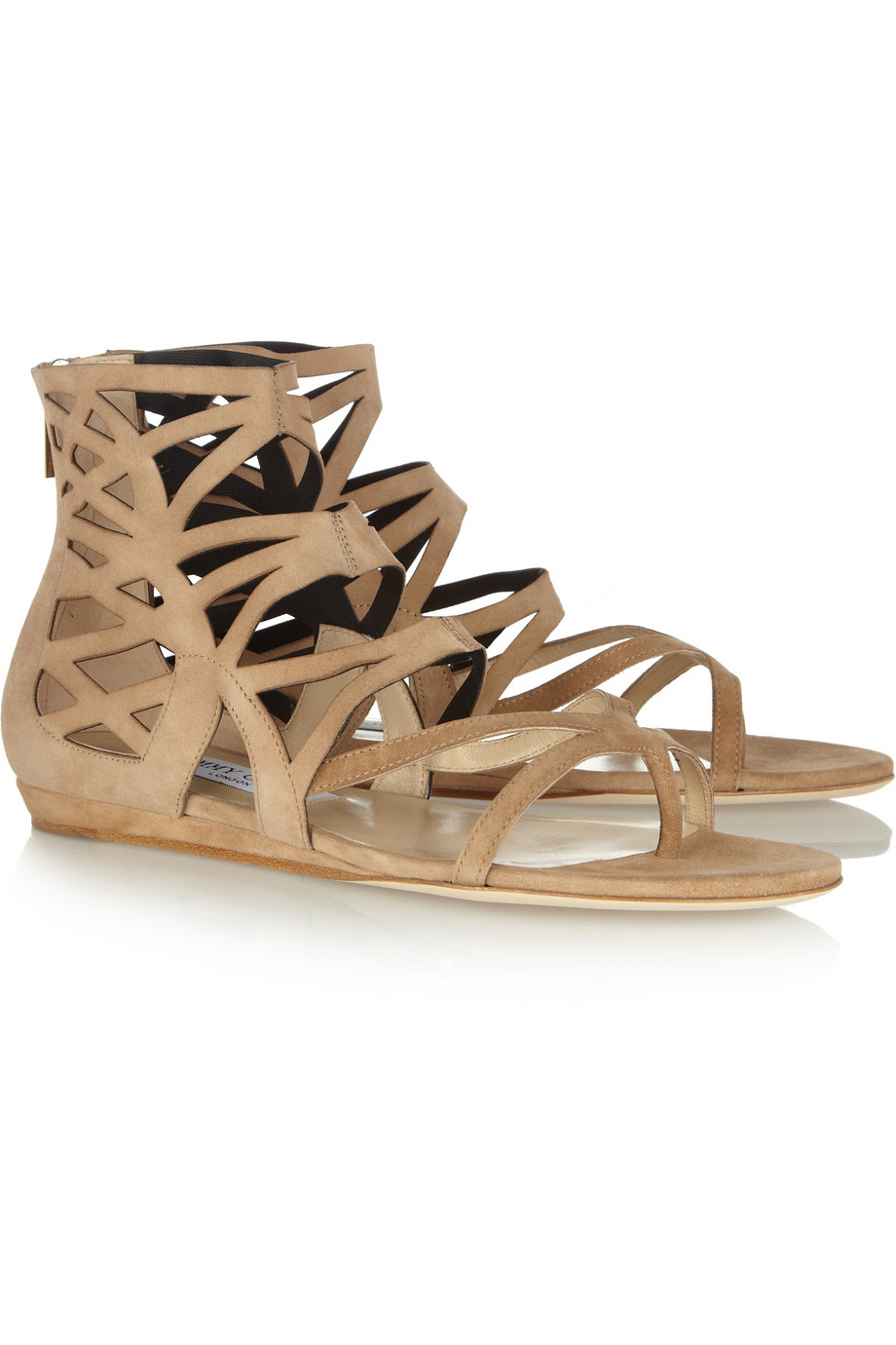 Jimmy Choo Suede Laser Cut Sandals sale visit clearance wiki ptD0hh