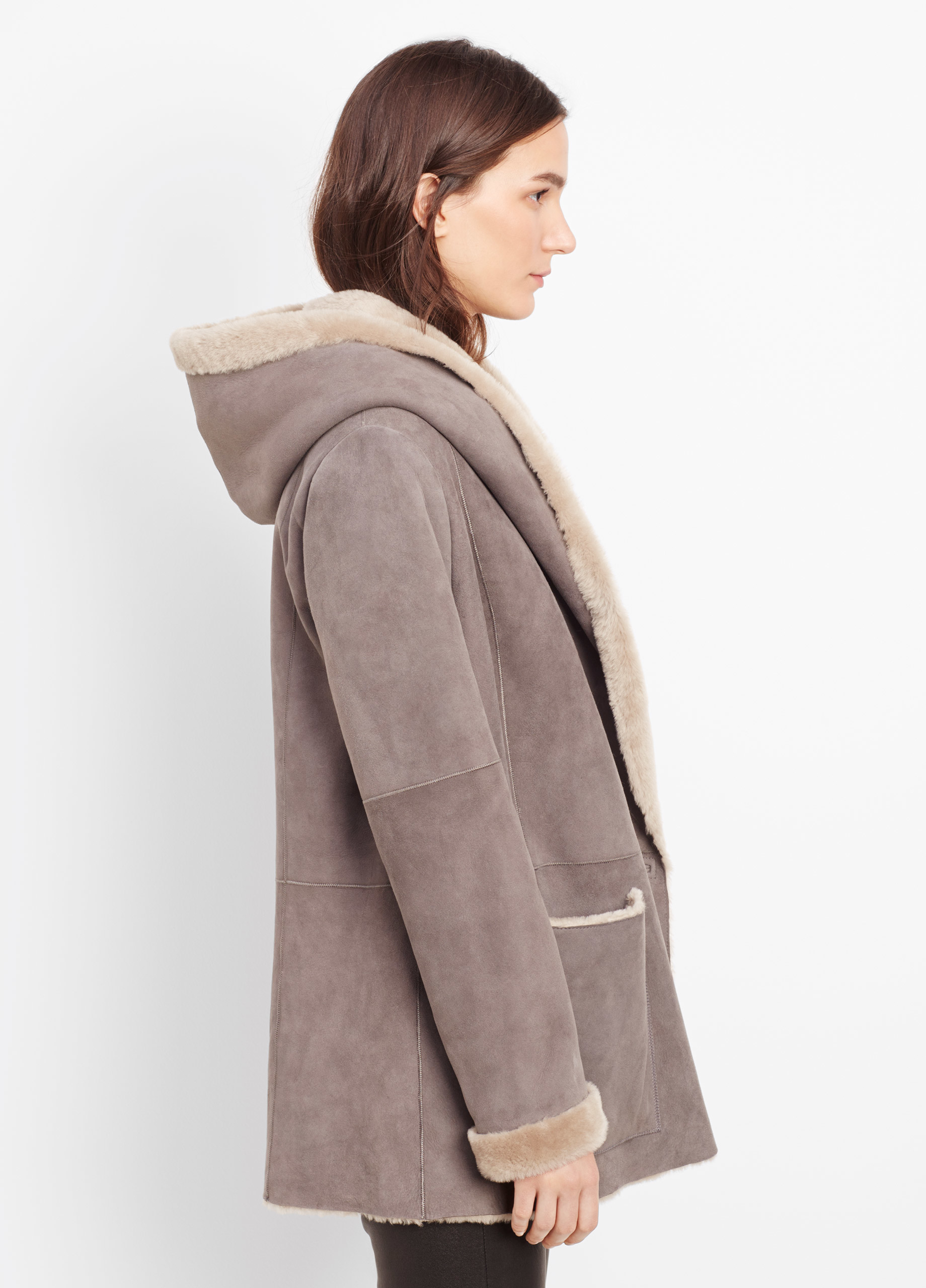 v vp shopbop drape drapes coat htm vince hooded