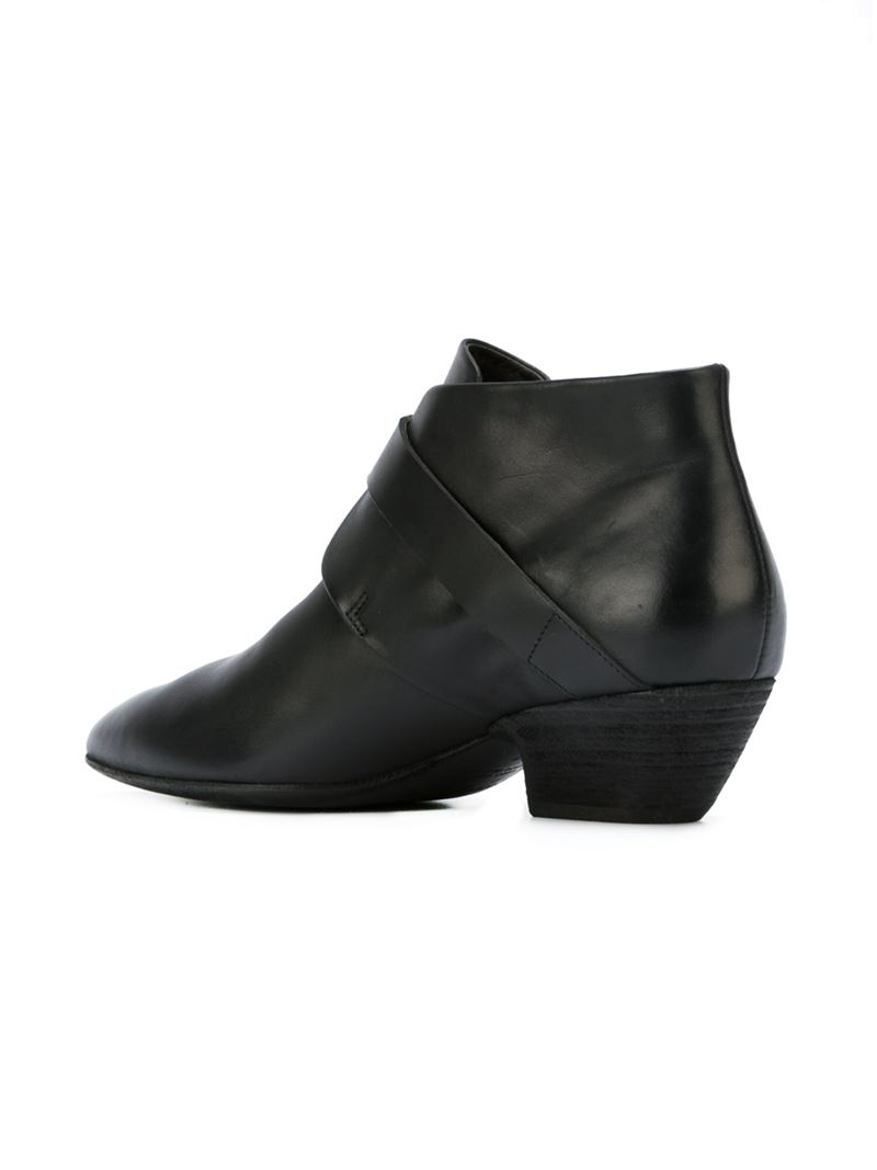 mars 232 ll pointed toe ankle boots in black lyst