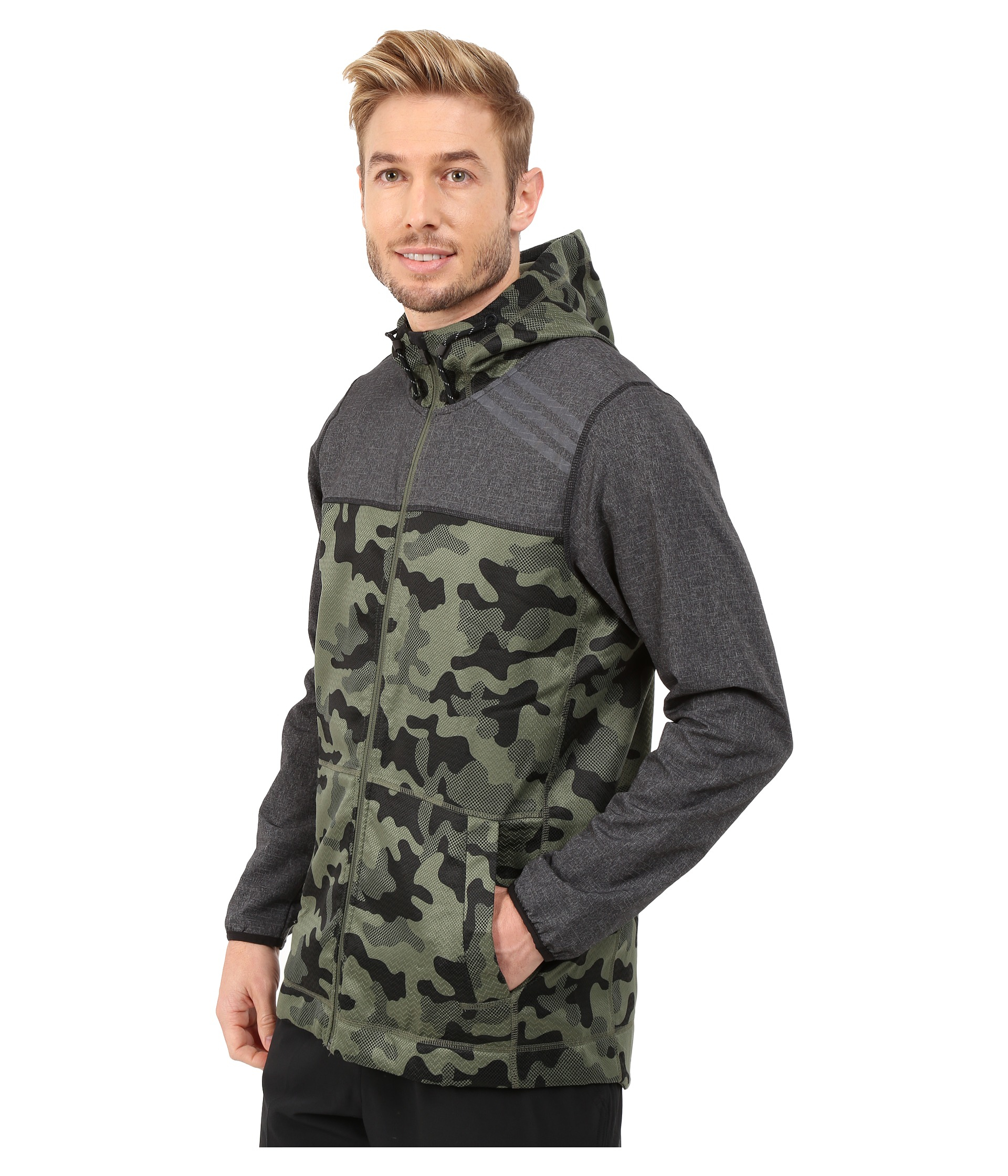 adidas s1 indestructible camo jacket in green for men lyst. Black Bedroom Furniture Sets. Home Design Ideas