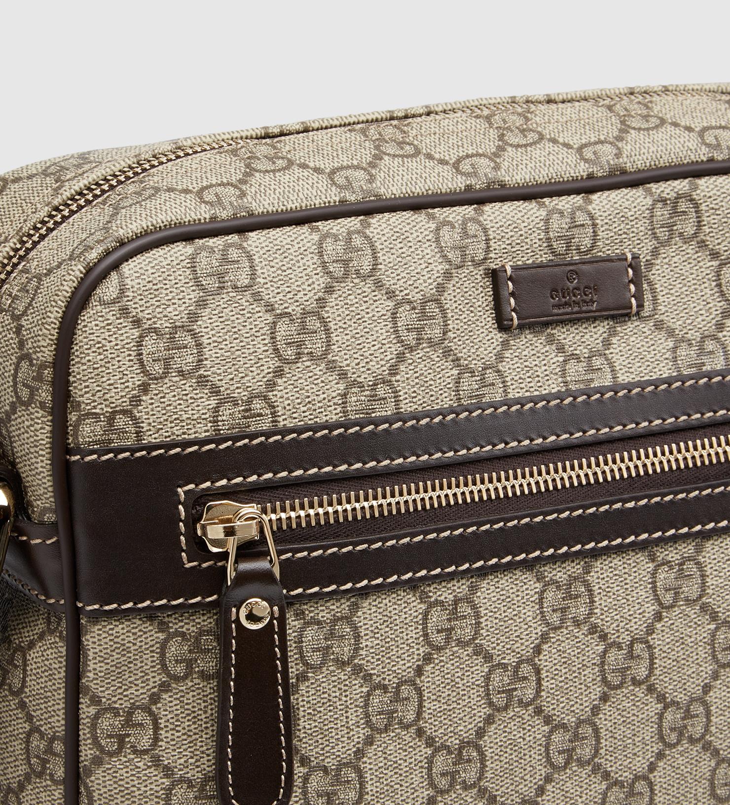 2f2e8ea0a838 Gucci Gg Supreme Shoulder Bag in Brown for Men - Lyst