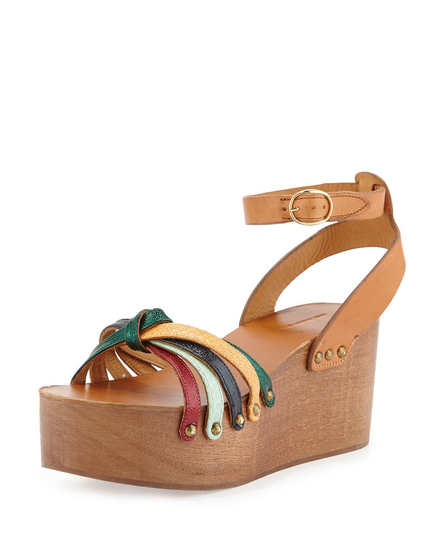 5ec38f47b66 Lyst - Isabel Marant Zia Leather Sandals
