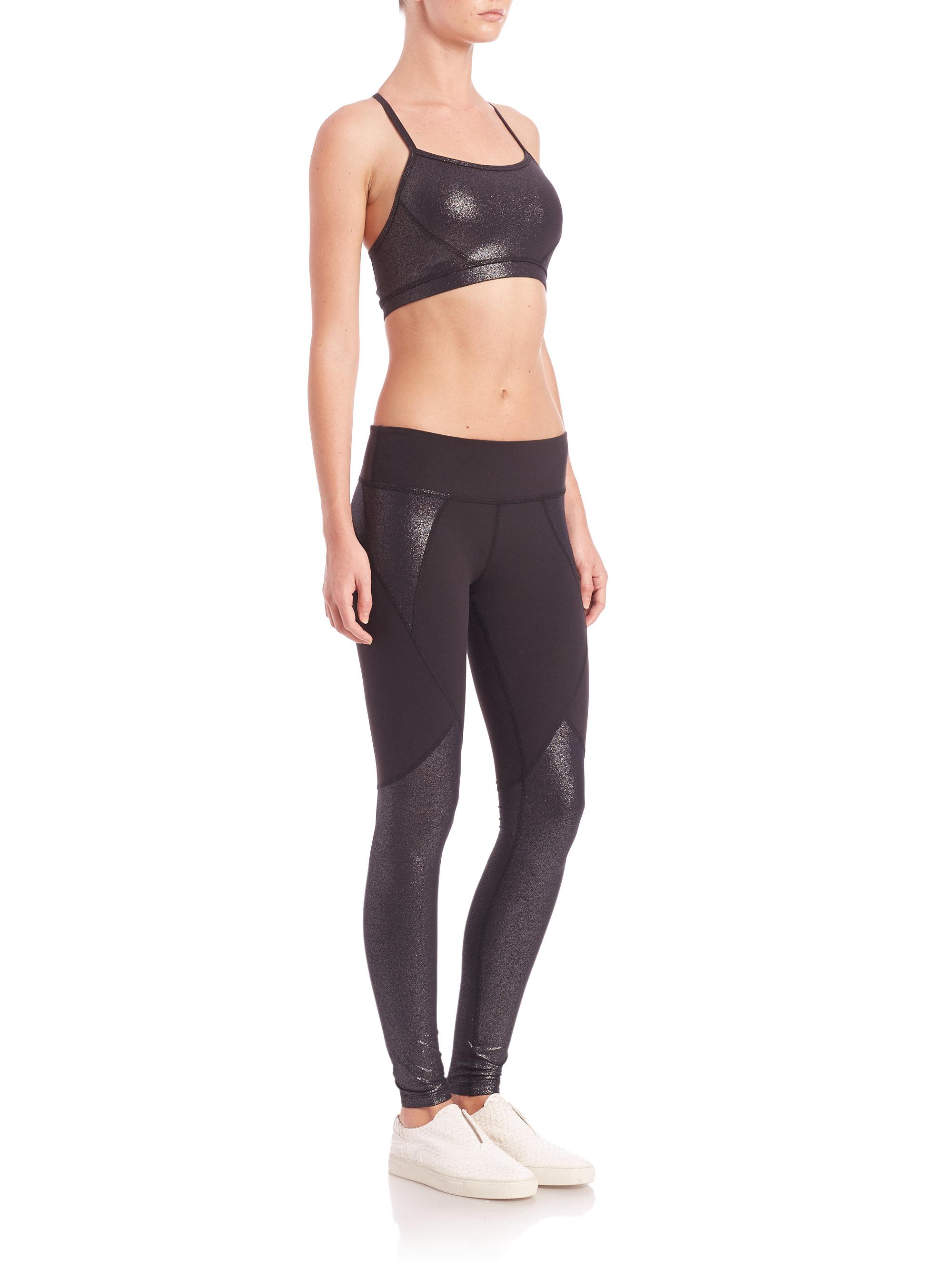 1dbce3cb29eb0 Beyond Yoga Shimmer-panel Leggings in Black - Lyst