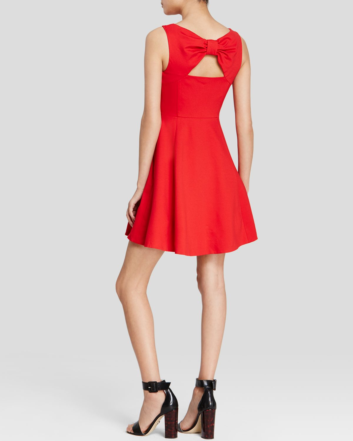 Kate spade new york Ponte Bow Back Dress in Red | Lyst