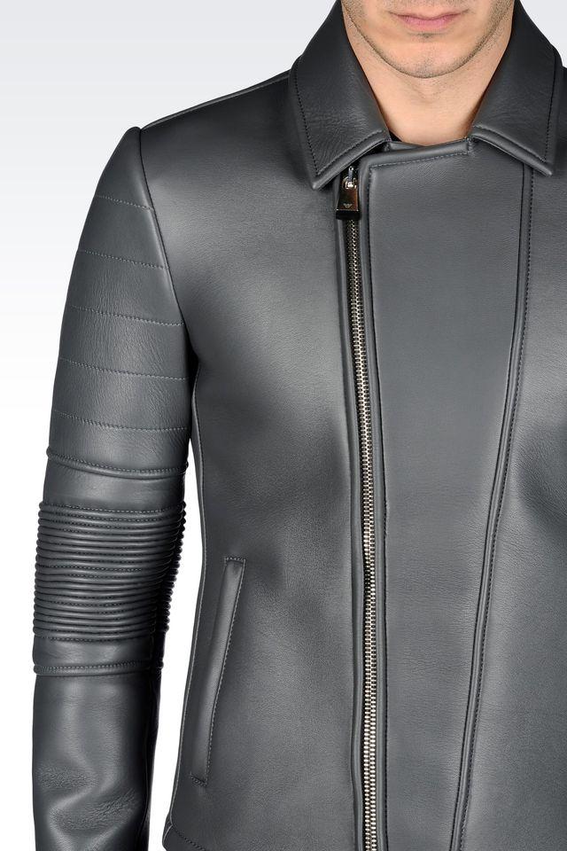 Light leather biker jacket mens