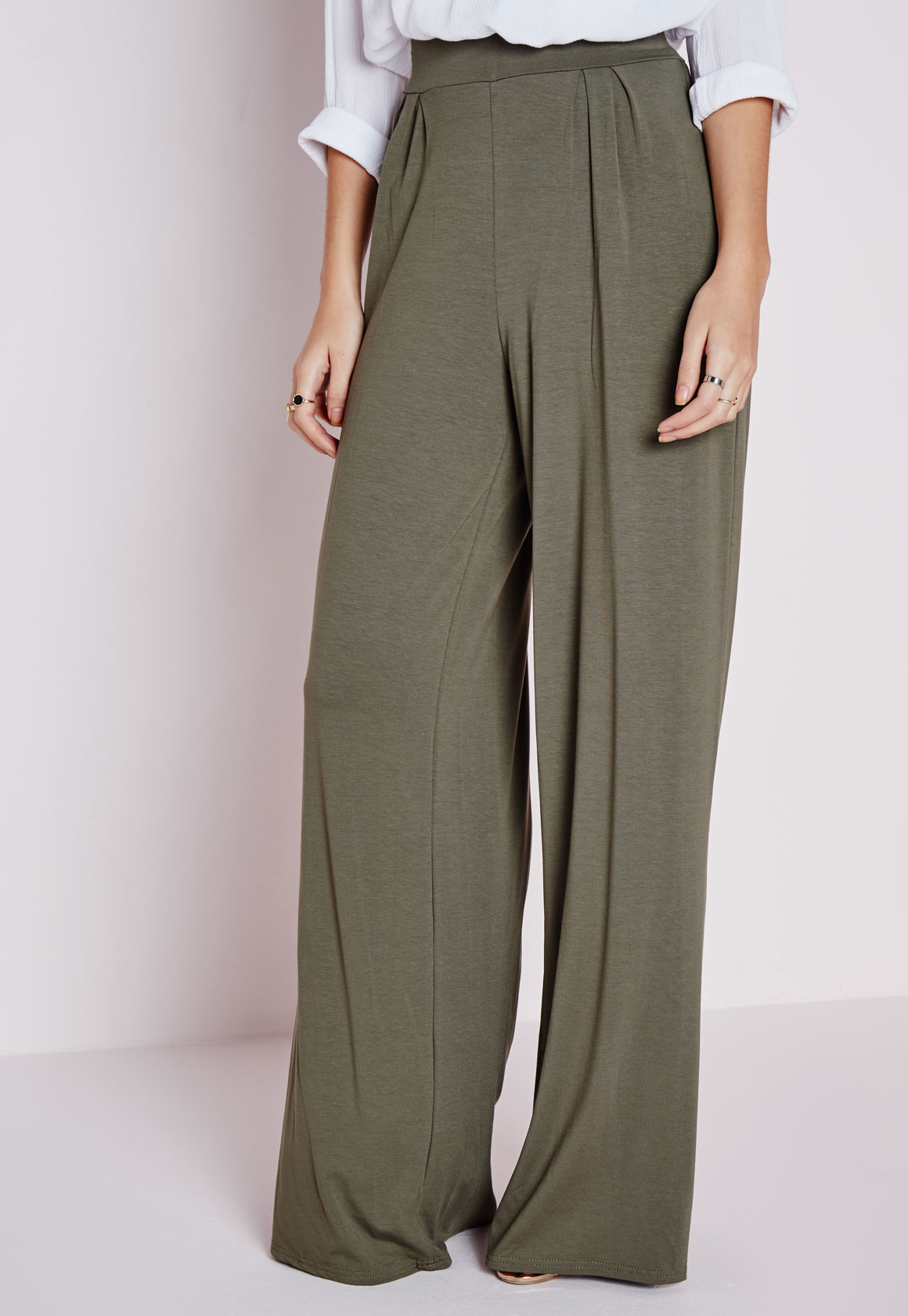 Shop for plus size wide leg pants available in denim, rayon and cotton for every occasion.