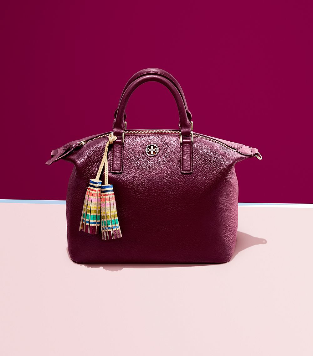 b2dc360a4ed Lyst - Tory Burch Multi-color Small Slouchy Satchel in Purple