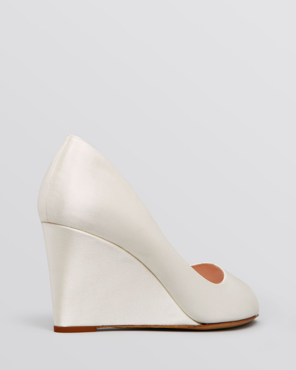 f455fc83db2d Lyst - Kate Spade Peep Toe Wedge Evening Pumps - Radiant Ivory in White