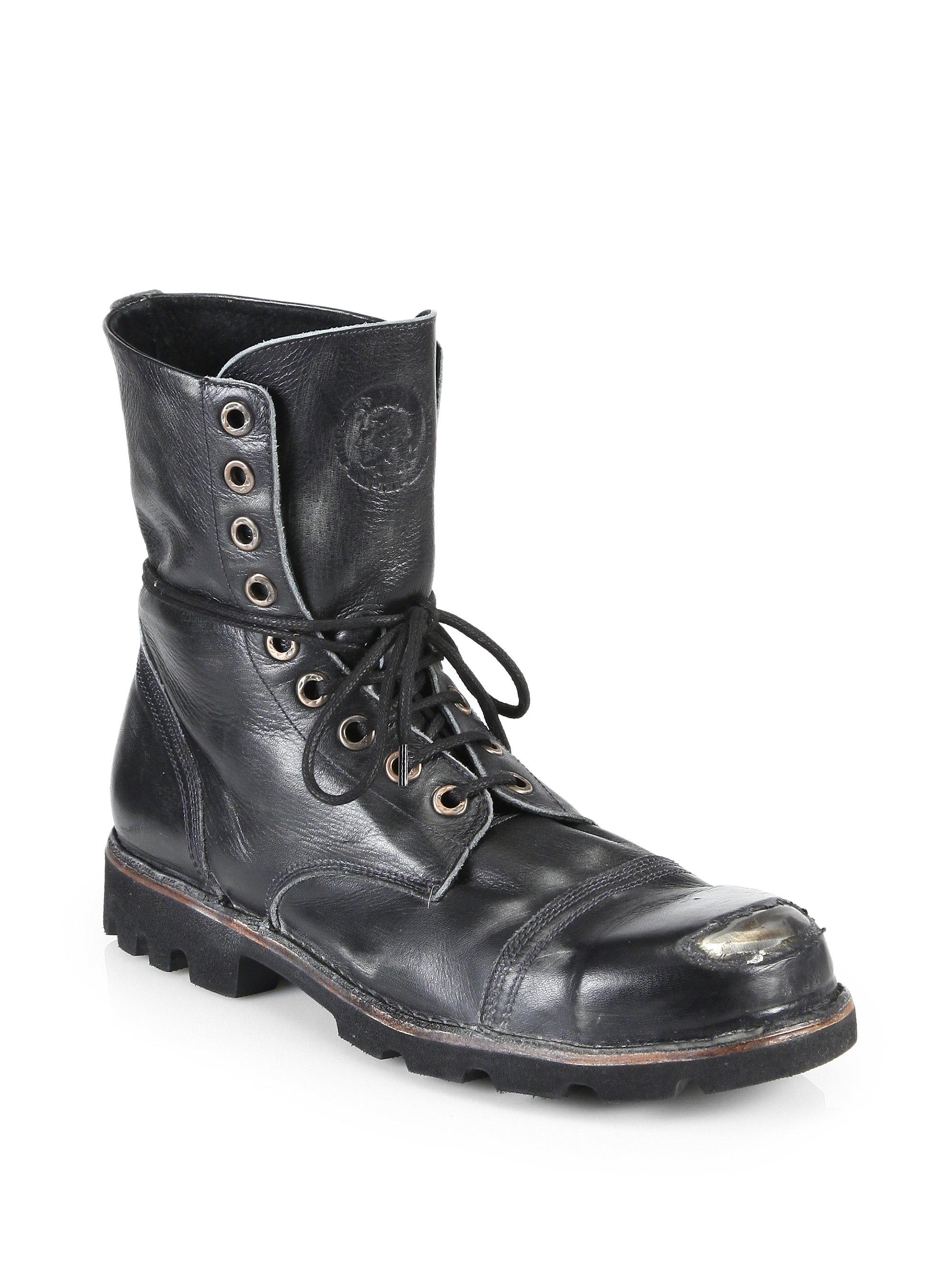 Lyst Diesel Hardkor Steel Lace Up Boots In Black For Men