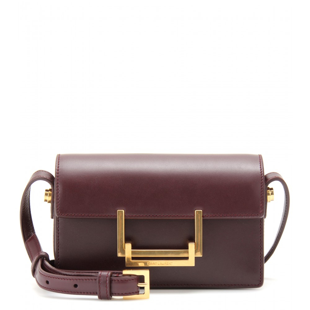Saint Laurent Lulu Small Leather Shoulder Bag in Brown - Lyst aa06e2c34665d