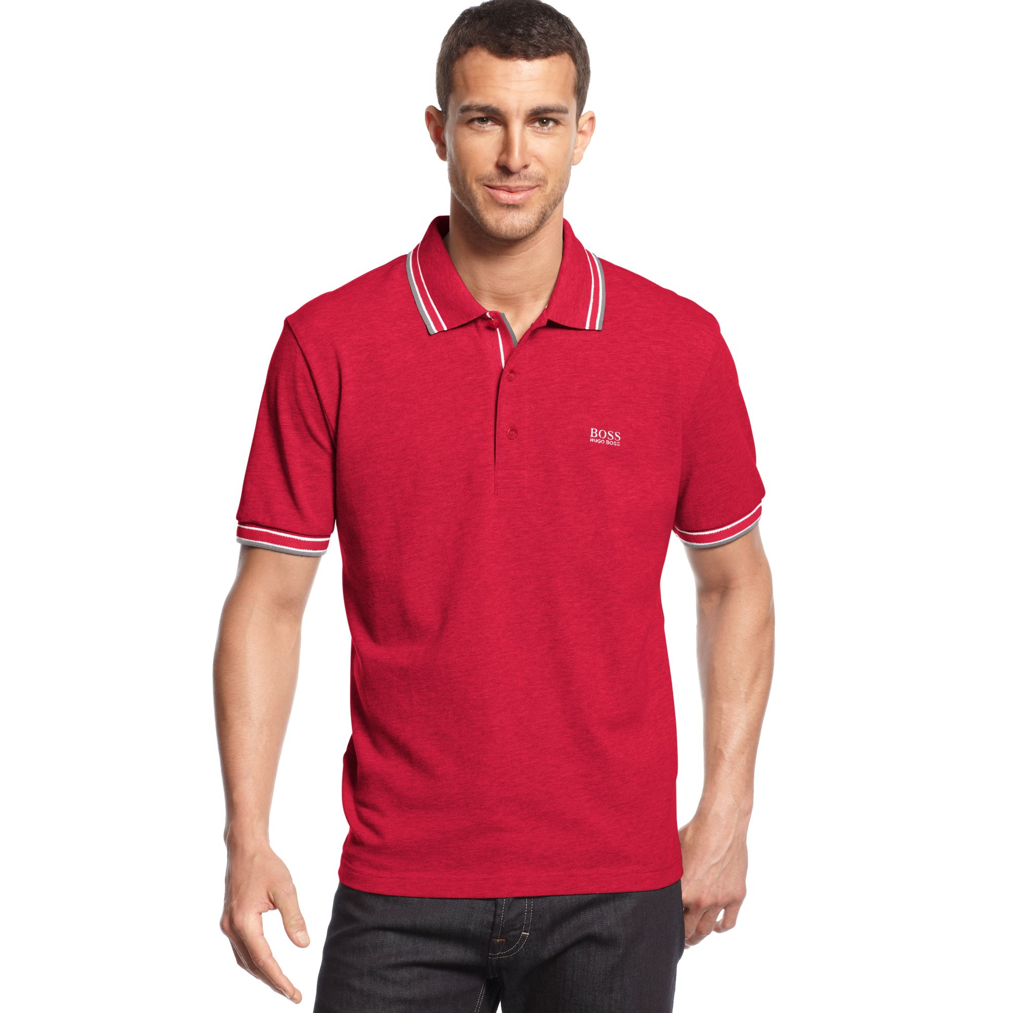 hugo polo shirt paddy polo modern fit in for barbados cherry lyst
