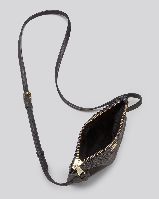 0f8529d8879 Lyst - Tory Burch Robinson Mini Fold-Over Cross-Body Bag in Black