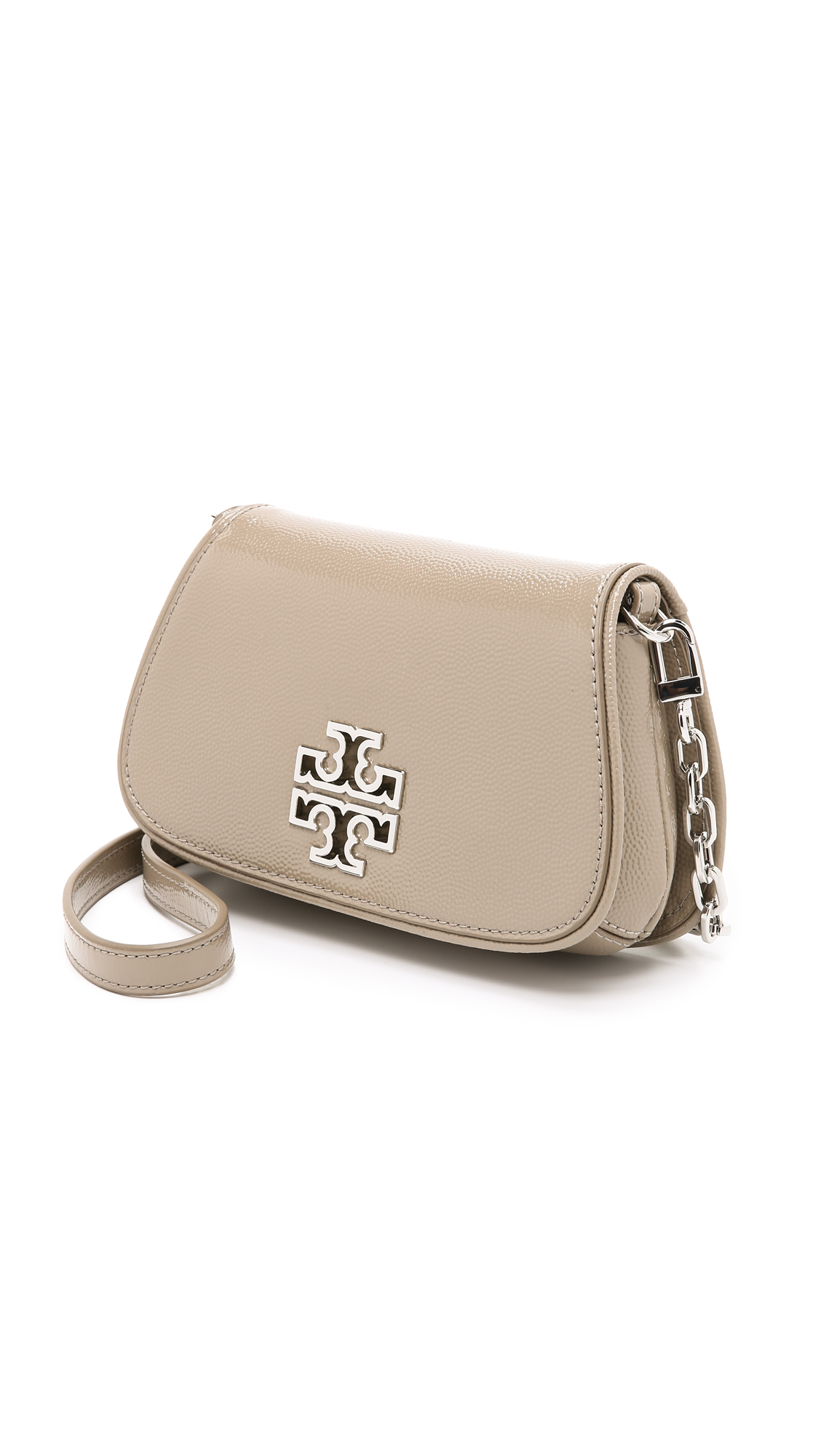 324aba6dbd48 Lyst - Tory Burch Britten Mini Cross Body Bag - French Gray in Gray