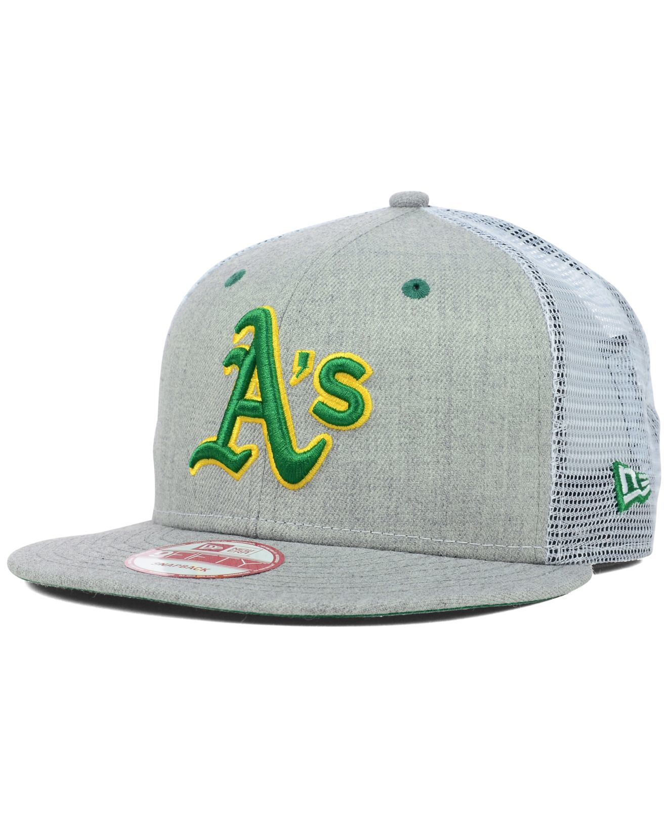new style 22a7d c391d ... new arrivals lyst ktz oakland athletics heather trucker 9fifty snapback  cap in a2774 05b41
