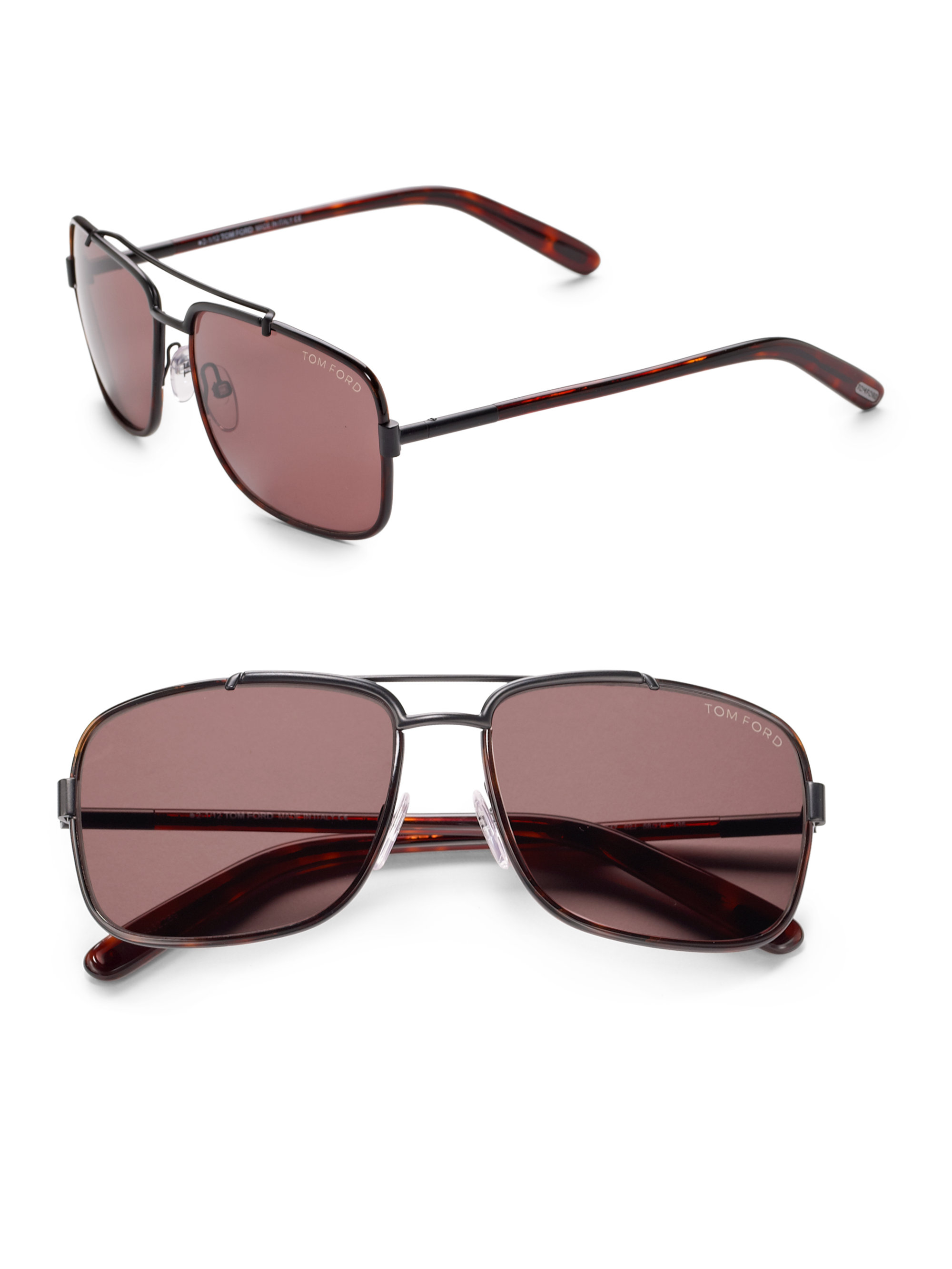 dcb57eceea47 Lyst - Tom Ford Martine Sunglasses in Brown