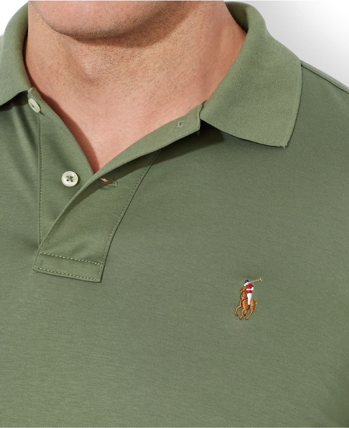65962160 ... best lyst polo ralph lauren big and tall pima soft touch interlock polo  c4d1a c60c4