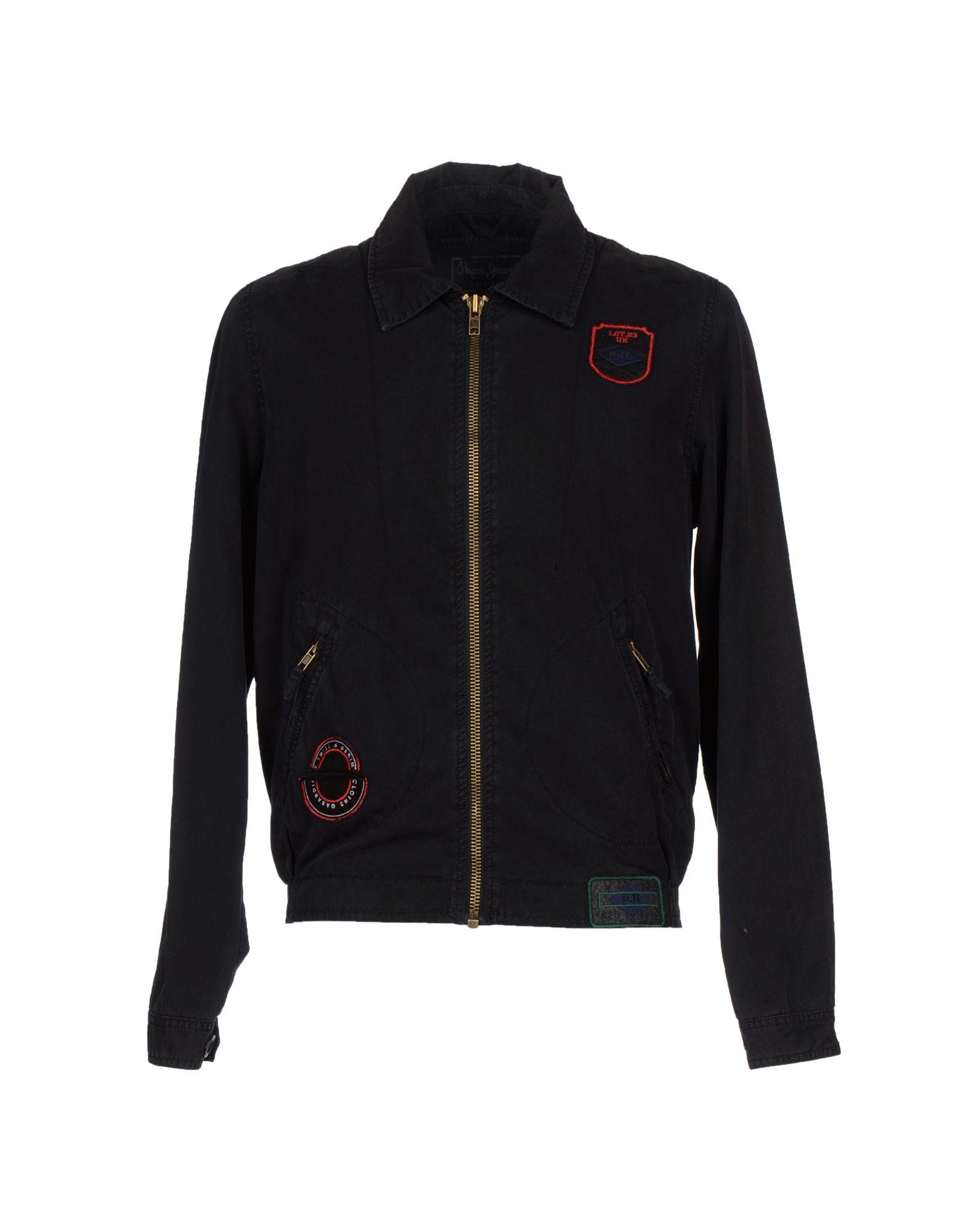 pepe jeans jacket in black for men lyst. Black Bedroom Furniture Sets. Home Design Ideas