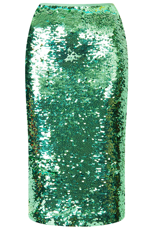 Green Sequin Skirt 95