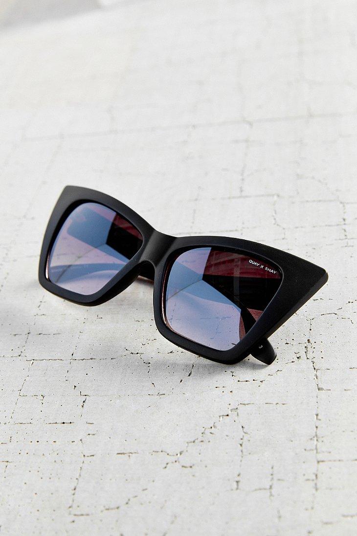 bcb62c17fb Quay X Shay Mitchell Vesper Sunglasses in Black - Lyst