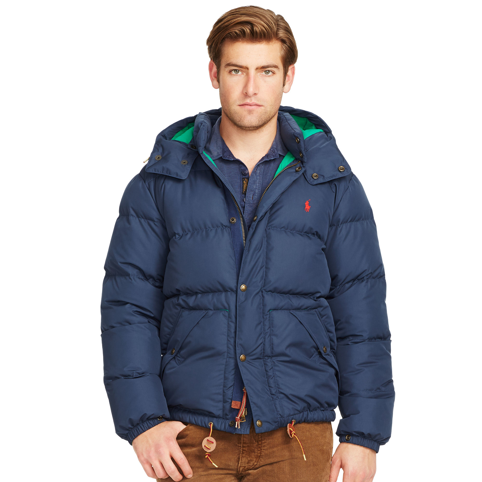 lyst polo ralph lauren quilted down coat in blue for men. Black Bedroom Furniture Sets. Home Design Ideas