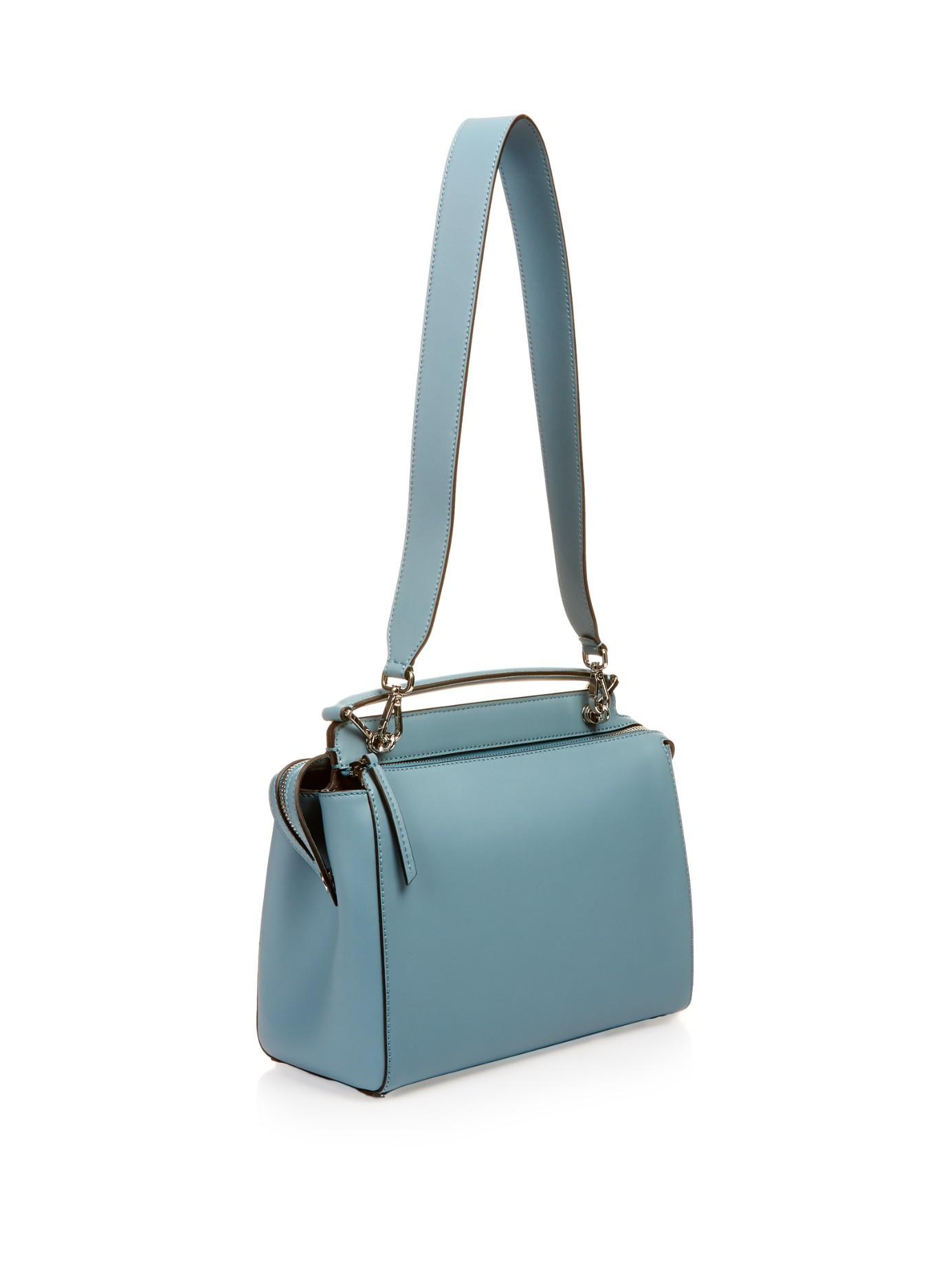 Lyst - Fendi Dotcom Leather Bag in Blue 2e77556279f8e
