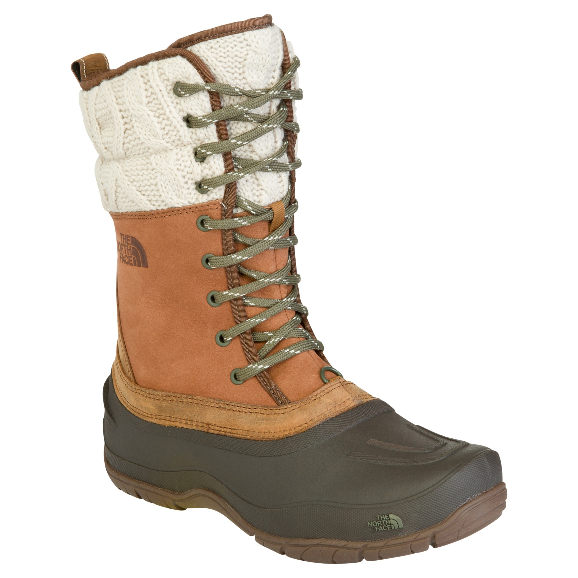 47b1d2820 The North Face Women'S Shellista Lace Leather Snow Boots in Green - Lyst