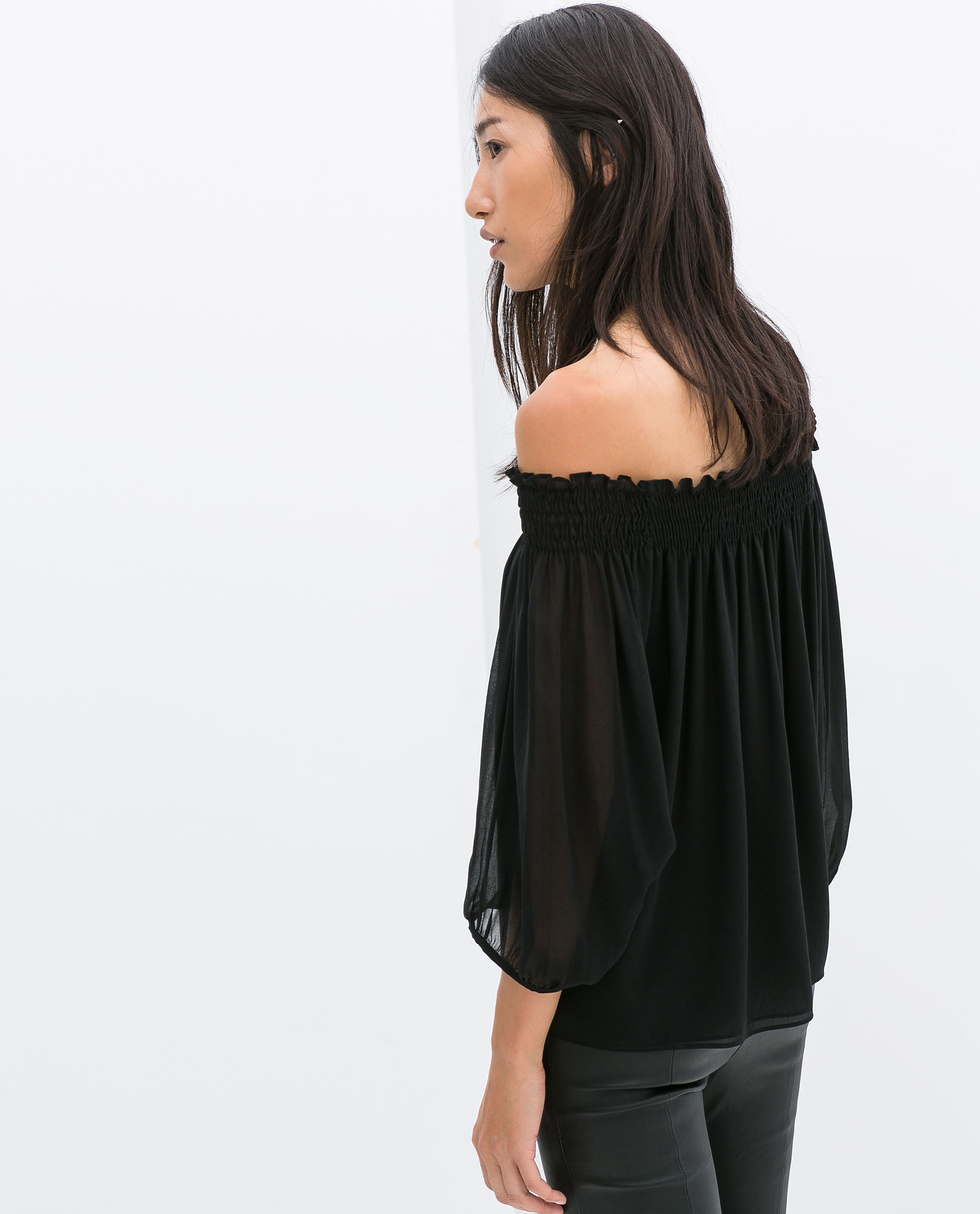 Zara Sheer Black Blouse 59