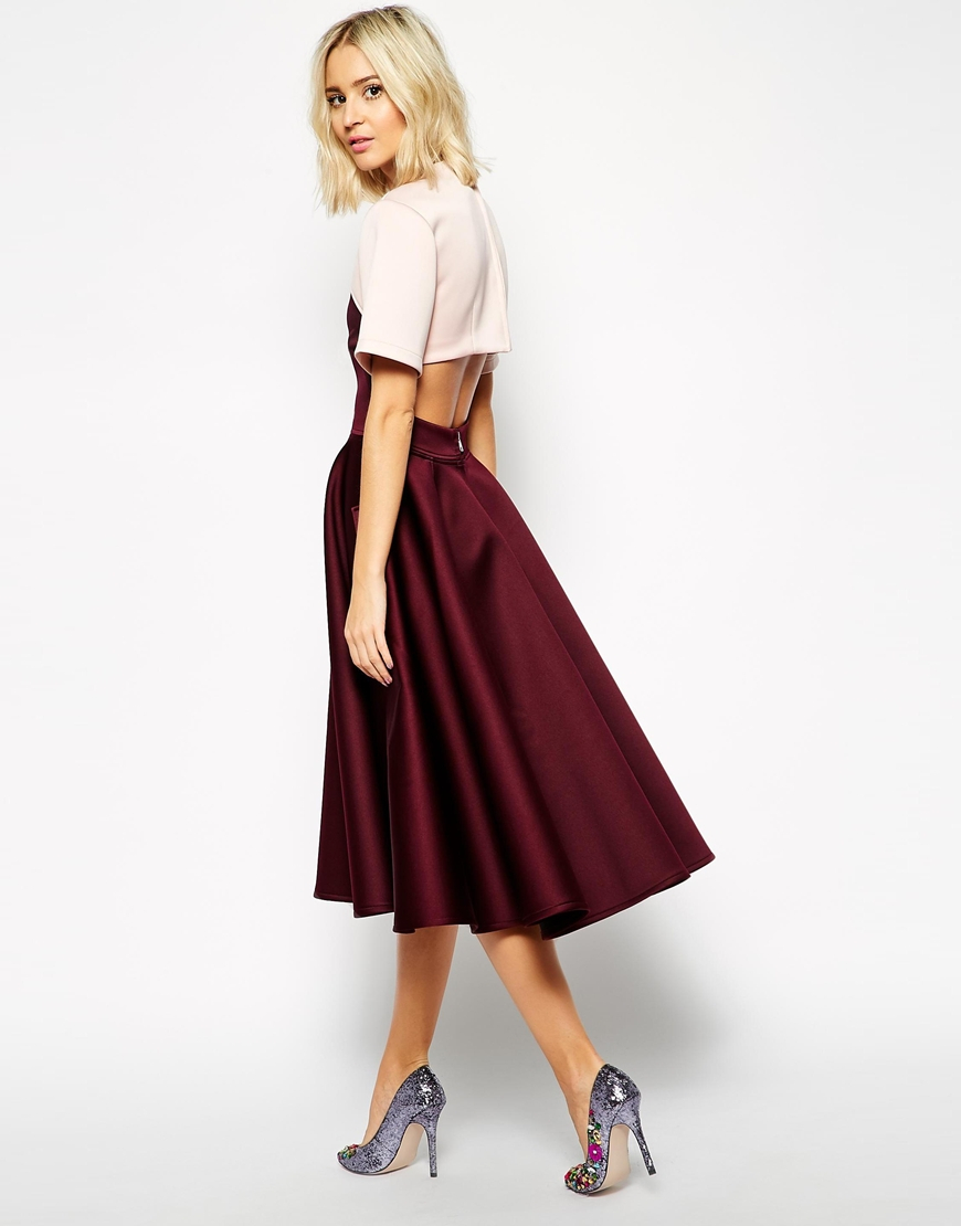 Asos Extreme Prom Dress With Cut Out in Pink | Lyst