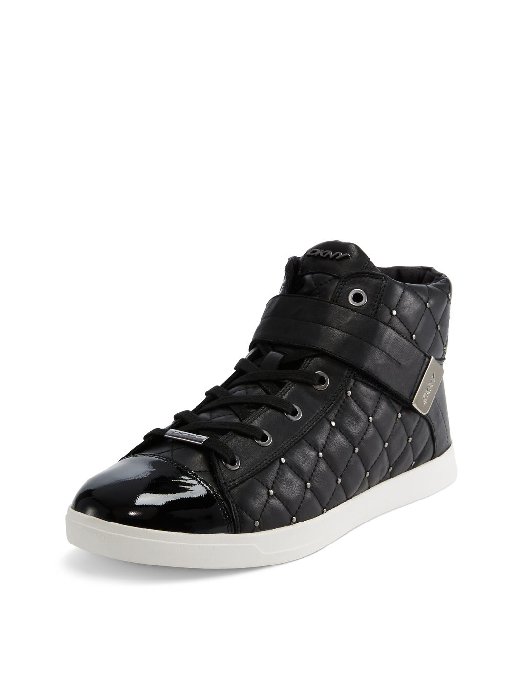 dkny betty quilted sneaker in black lyst