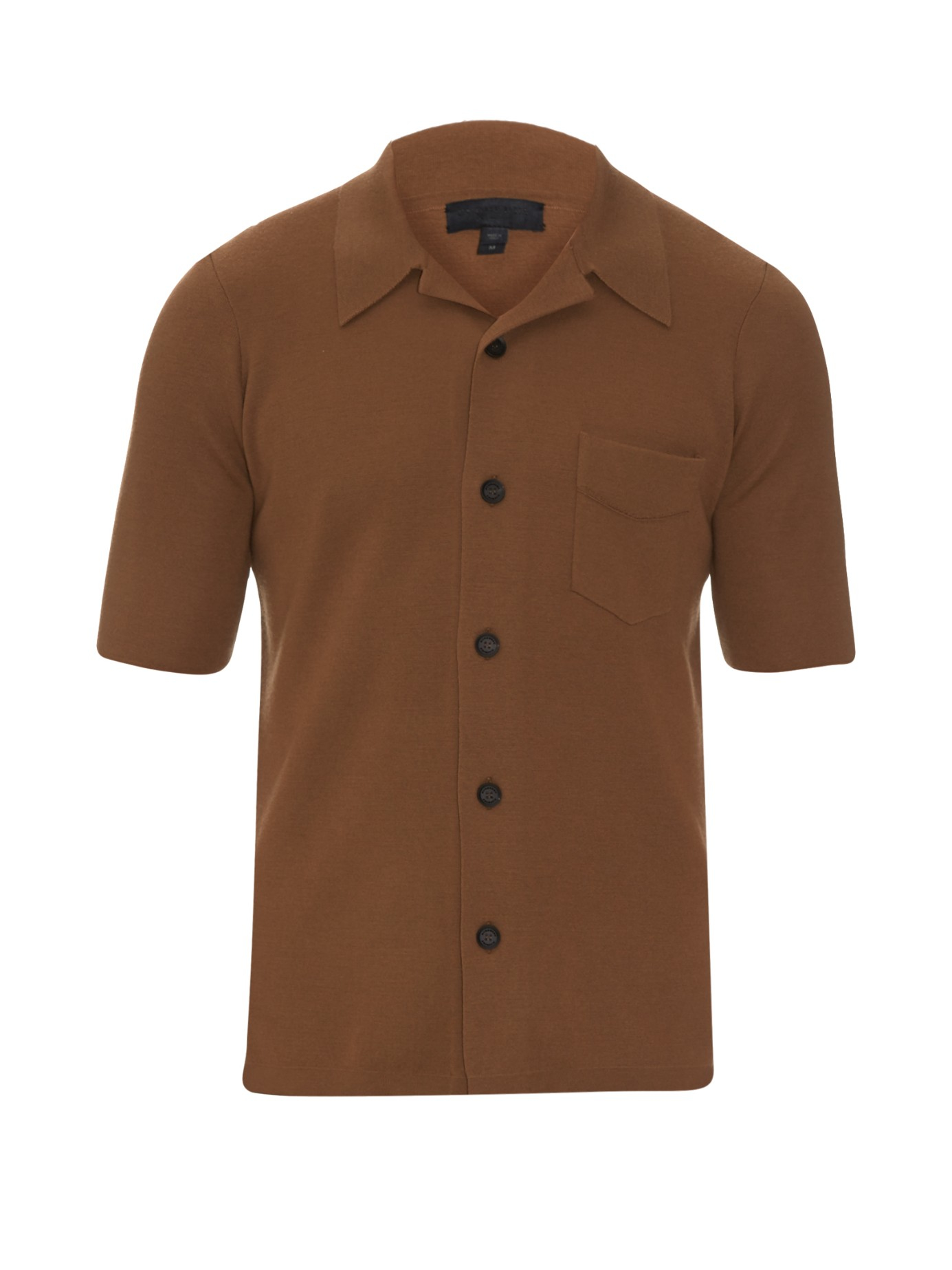 Lyst - Burberry prorsum Button-down Cashmere-blend Shirt in Brown ...