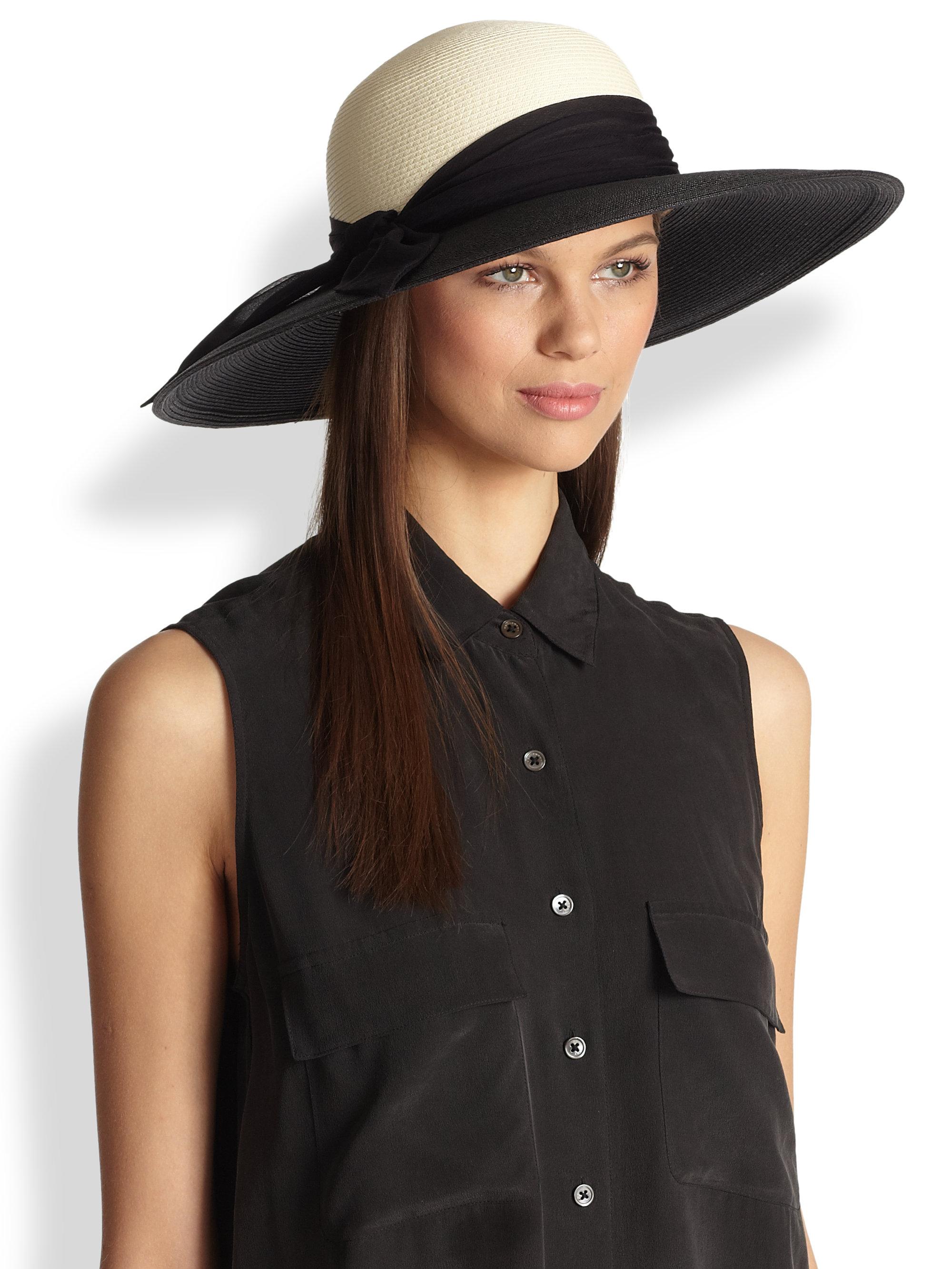Eugenia Kim Honey Colorblock Sun Hat In Black Lyst