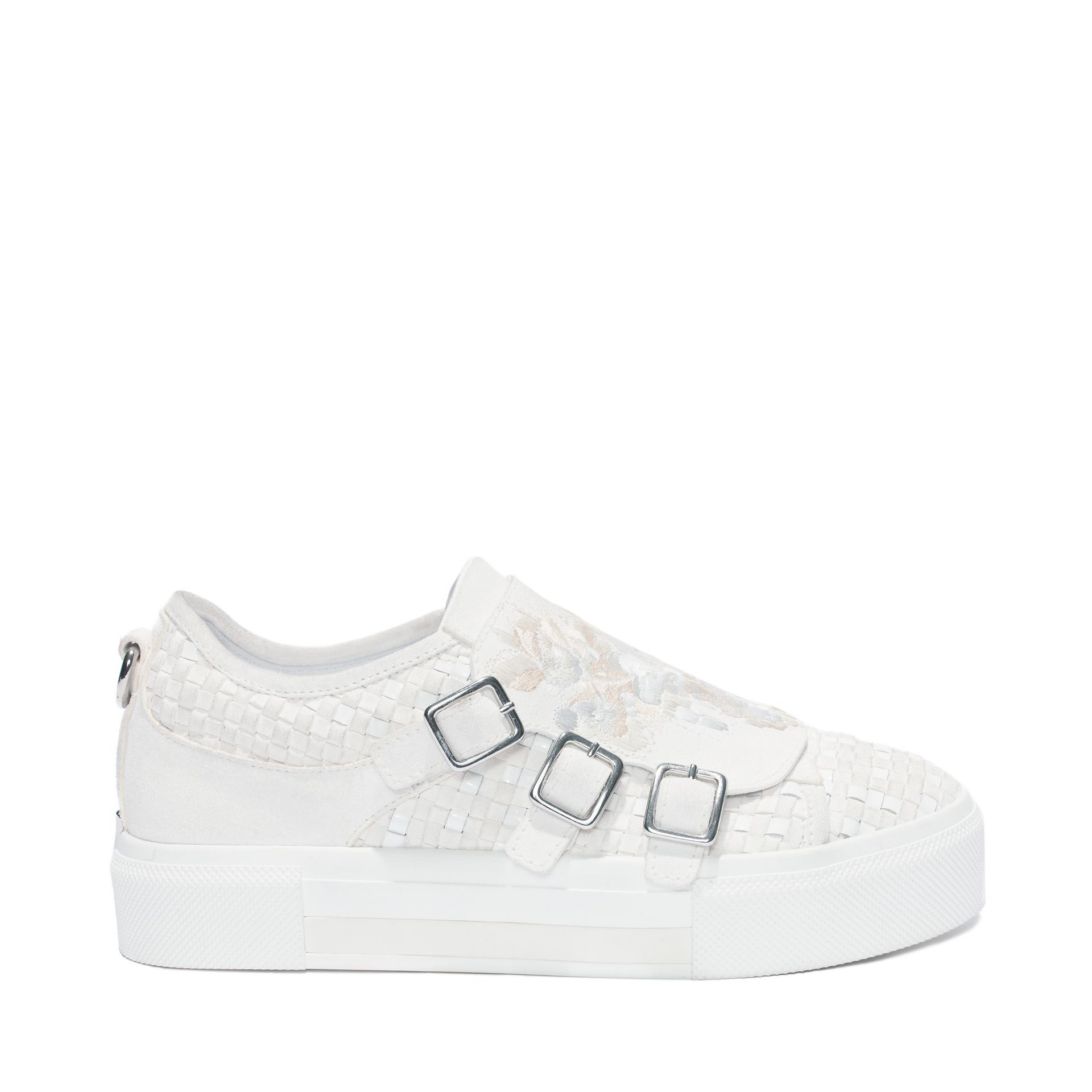 alexander mcqueen 3 buckle sneaker in white lyst. Black Bedroom Furniture Sets. Home Design Ideas