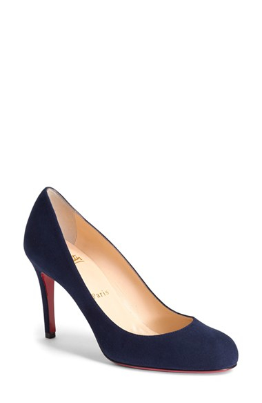 christian louboutin simple pump navy