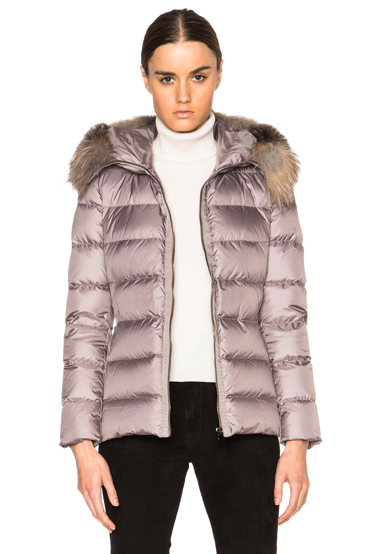 Moncler Puffer Jacket With Fur-trim Hood