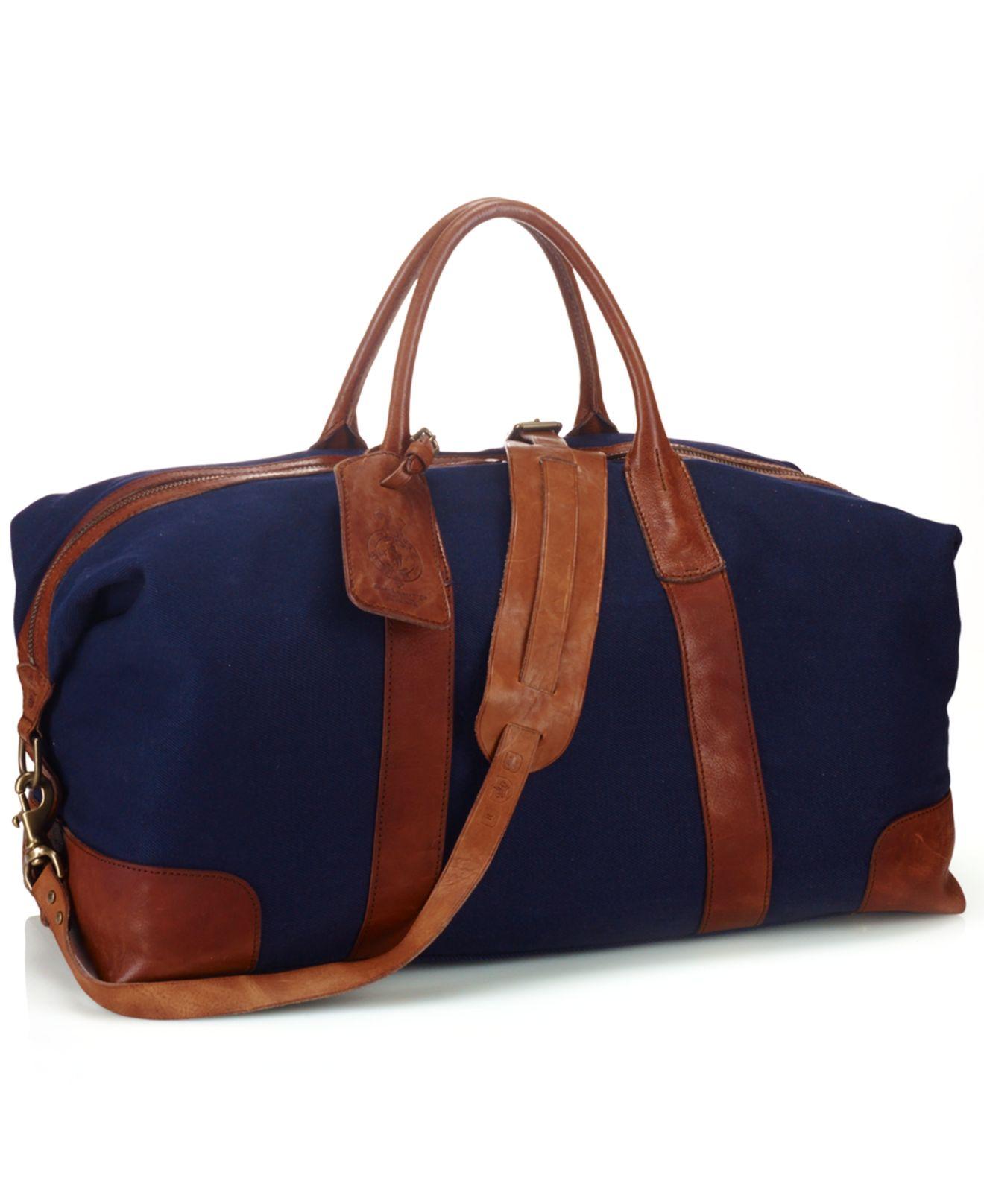 6f1932bb14 ... buy lyst polo ralph lauren canvas duffel bag in blue for men 12d2e 8de41